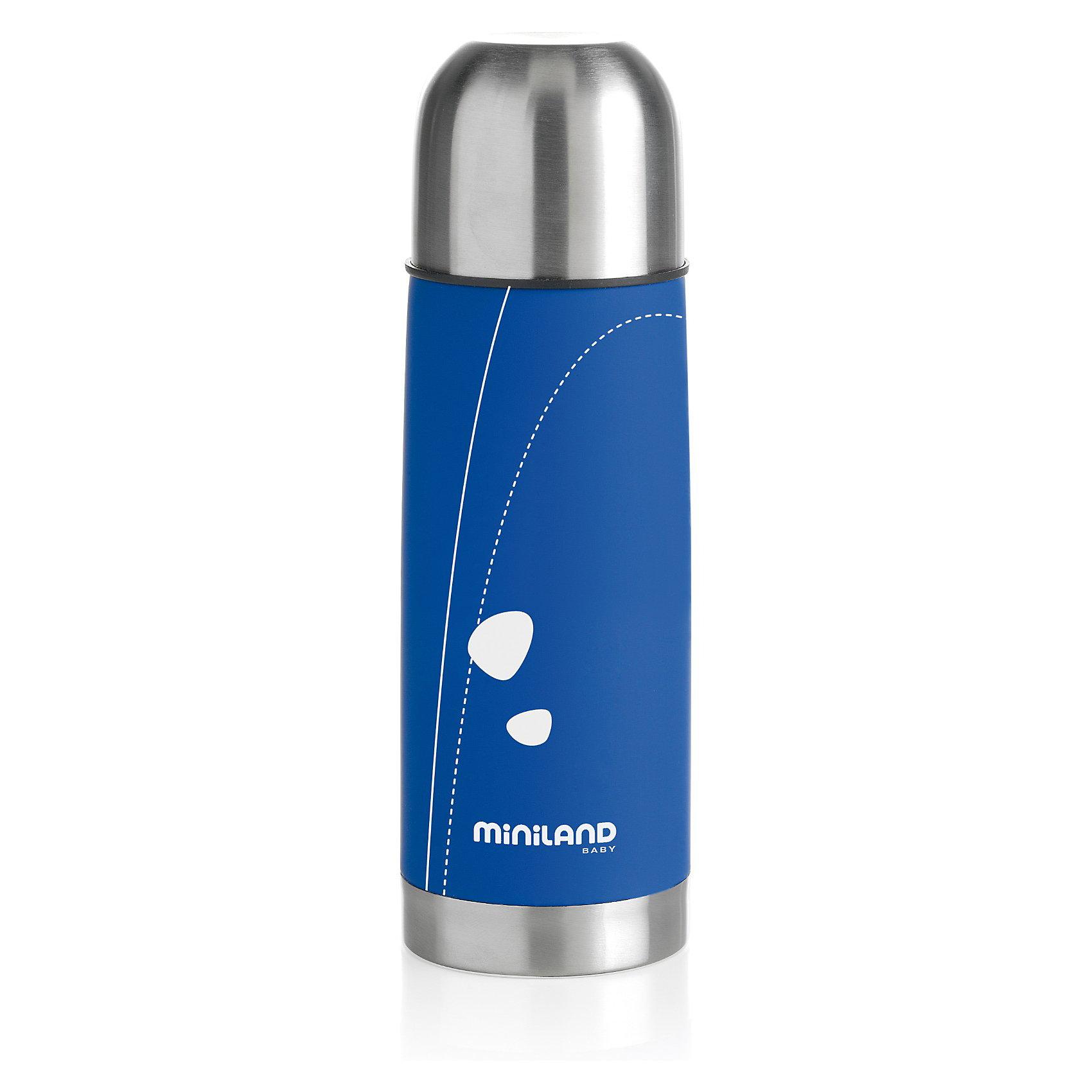Термос для жидкостей Miniland SOFT THERMO 350 мл, синийДетский термос для жидкой от компании Miniland имеет мягкую прорезиненную, очень приятную на ощупь поверхность. Каркас термоса и крышка сделаны из нержавеющей стали, устойчивой к падениям и ударам, легко моются. Термос поддерживает температуру жидкости в течение длительного периода времени. Закрывается при помощи плотно завинчивающейся крышки со специальным клапаном и колпачка, который можно использовать в качестве чашки. Прекрасный вариант для поездок и путешествий. <br><br>Дополнительная информация:<br><br>-  Объем: 350 мл.<br>- Материал: нержавеющая сталь, резина, пластик.<br>- Цвет: синий.<br>- Высота термоса: 19,5 см.<br>- Комплектация: термос.<br> <br>Термос для жидкостей Miniland SOFT THERMO 350 мл, синий, можно купить в нашем магазине.<br><br>Ширина мм: 211<br>Глубина мм: 80<br>Высота мм: 78<br>Вес г: 334<br>Возраст от месяцев: 0<br>Возраст до месяцев: 36<br>Пол: Унисекс<br>Возраст: Детский<br>SKU: 3288468