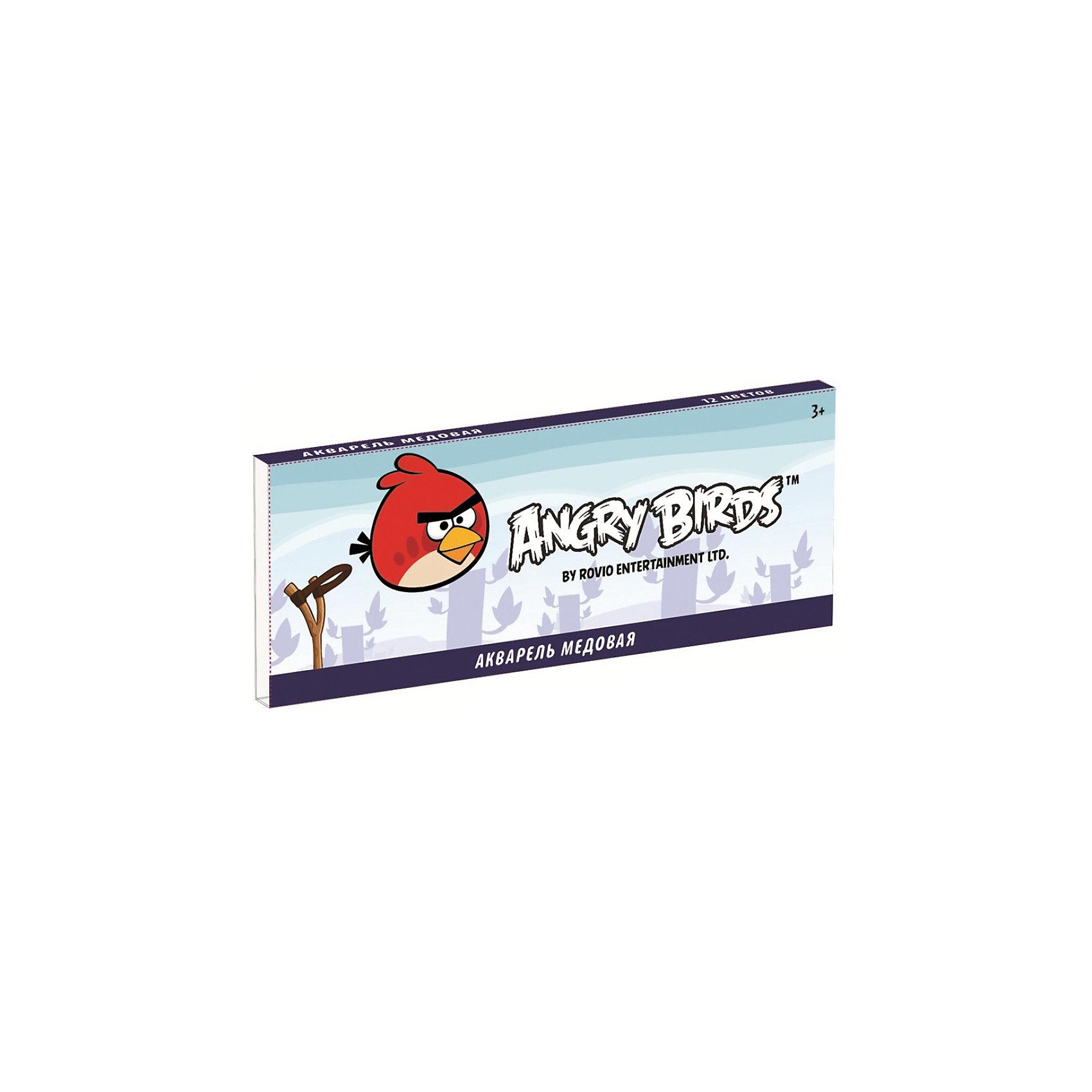 Акварель медовая 12 цветов Angry Birds от myToys