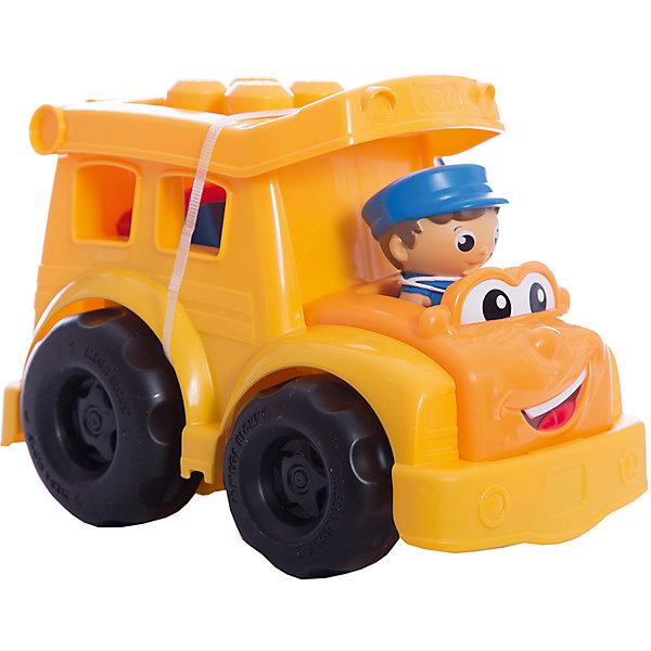 Школьный автобус Сонни MEGA BLOKS First BuildersПластмассовые конструкторы<br>Школьный автобус Сонни, Mega Bloks, First Builders, приятно порадует Вашего ребенка. Симпатичный автобус выполнен в ярко-желтом цвете, у него милое личико с веселой улыбкой и большие глаза. Каждое утро Сонни собирает маленьких пассажиров, чтобы отвезти их на занятия в школу. Крыша автобуса легко открывается, позволяя помещать внутрь детали First Builders и фигурки. В комплект также входят 5 деталей, которые можно прикреплять на крышу автобуса, меняя его облик, и фигурка водителя. Автобус и детали имеют крупный размер и форму, удобную для детских ручек. Набор совместим с другими наборами серии First Builders.<br><br>Дополнительная информация:<br><br>- В комплекте: автобус, 5 деталей, фигурка водителя.   <br>- Материал: пластик.<br>- Размер игрушки: 23 х 15,5 х 16 см.<br>- Размер упаковки: 25 x 17 x 17 см. <br>- Вес: 0,465 кг.<br><br>Школьный автобус Сонни, MEGA BLOKS First Builders, можно купить в нашем интернет-магазине.<br><br>Ширина мм: 16<br>Глубина мм: 177<br>Высота мм: 243<br>Вес г: 480<br>Возраст от месяцев: 12<br>Возраст до месяцев: 36<br>Пол: Мужской<br>Возраст: Детский<br>SKU: 3289623