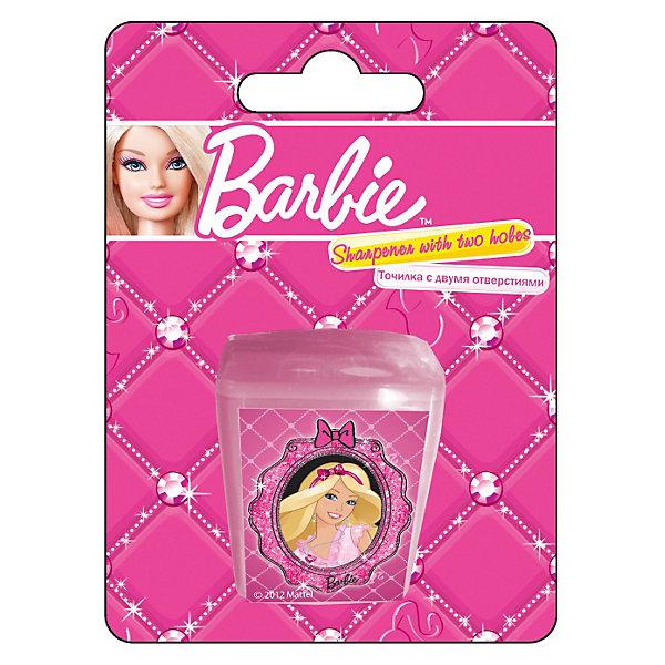 Barbie Точилка с двумя отверстиямиТочилки<br>Точилка с двумя отверстиями, 1шт с изображением Barbie (Барби) станет прекрасным помощником Вашей девочки в школе!<br><br>Дополнительная информация:<br><br>Печать на корпусе - полноцветная. <br>Размер 11х 8 х 2,5.<br><br>Карандаши Вашей девочки всегда будут готовы к работе!<br><br>Ширина мм: 110<br>Глубина мм: 80<br>Высота мм: 25<br>Вес г: 20<br>Возраст от месяцев: 96<br>Возраст до месяцев: 168<br>Пол: Женский<br>Возраст: Детский<br>SKU: 3291565