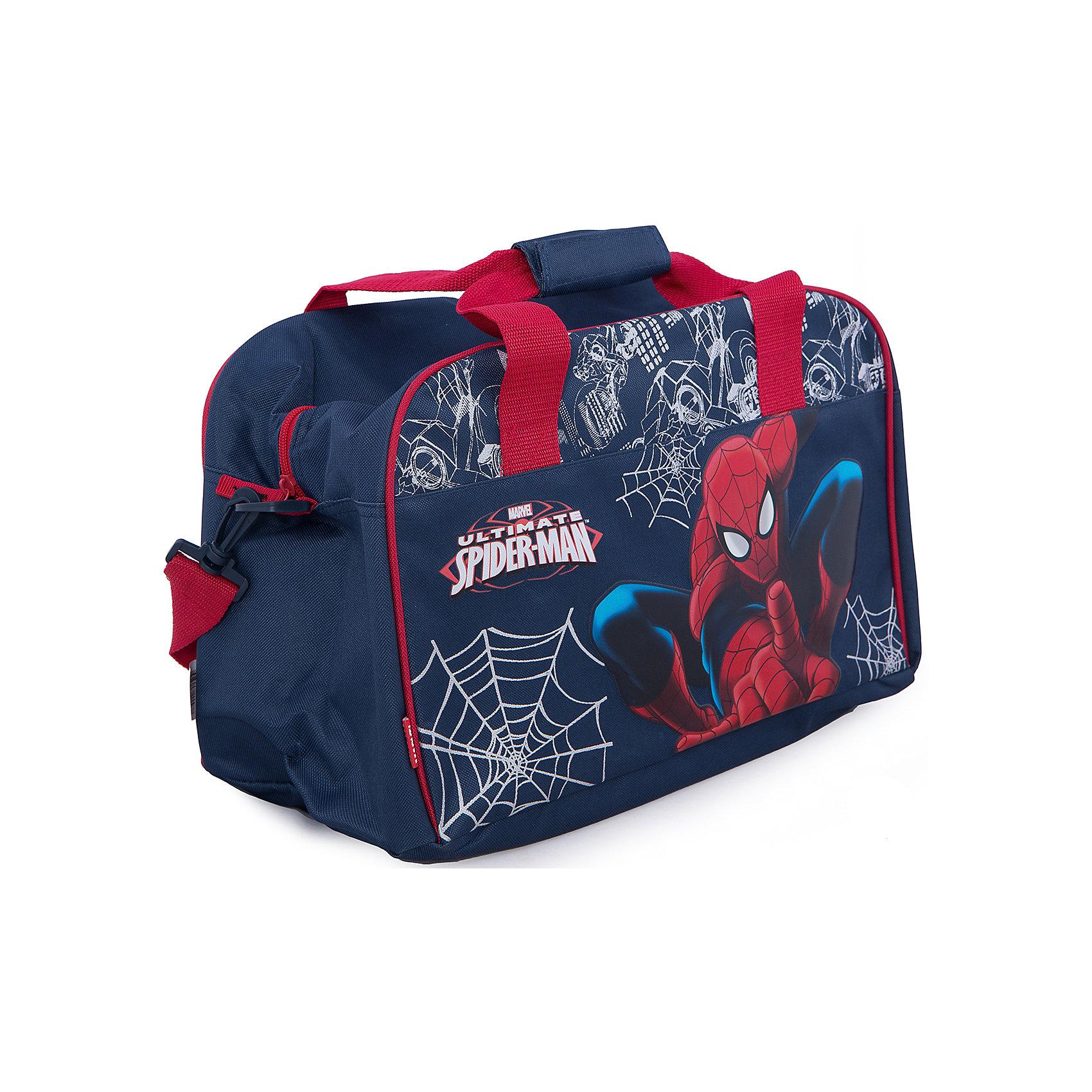 Сумка дорожная, Человек-ПаукСумка дорожная с изображением Человека-Паука сделает путешествие Вашего малыша захватывающим приключением!<br><br>Дополнительная информация:<br><br>Вес: 560 г.<br>Размер: 26х22х4 см.<br>Spider-man<br><br>Наслаждайтесь отдыхом!<br><br>Ширина мм: 260<br>Глубина мм: 40<br>Высота мм: 220<br>Вес г: 561<br>Возраст от месяцев: 48<br>Возраст до месяцев: 84<br>Пол: Мужской<br>Возраст: Детский<br>SKU: 3291643