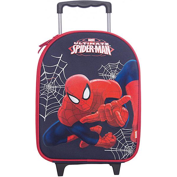 Чемодан на роликах, Человек-ПаукДорожные сумки и чемоданы<br>Чемодан на роликах с изображением Человека-Паука сделает путешествие Вашего малыша захватывающим приключением!<br><br>Дополнительная информация:<br><br>Вес: 1100 г.<br>Размер: 38х30х15 см.<br>Spider-man<br><br>Наслаждайтесь отдыхом!<br>Ширина мм: 380; Глубина мм: 300; Высота мм: 150; Вес г: 1100; Возраст от месяцев: 48; Возраст до месяцев: 84; Пол: Мужской; Возраст: Детский; SKU: 3291644;