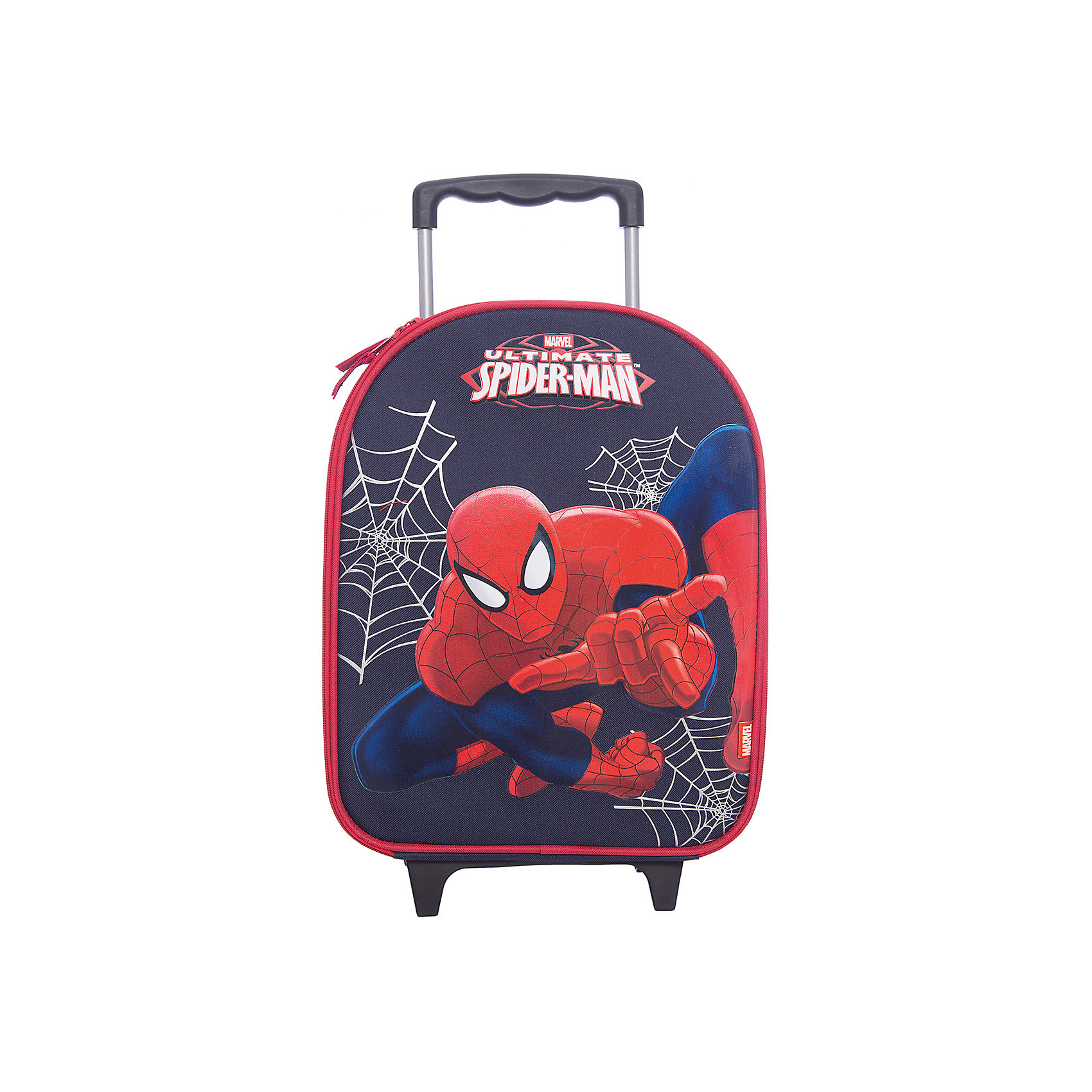 Чемодан на роликах, Человек-ПаукЧемодан на роликах с изображением Человека-Паука сделает путешествие Вашего малыша захватывающим приключением!<br><br>Дополнительная информация:<br><br>Вес: 1100 г.<br>Размер: 38х30х15 см.<br>Spider-man<br><br>Наслаждайтесь отдыхом!<br><br>Ширина мм: 380<br>Глубина мм: 300<br>Высота мм: 150<br>Вес г: 1100<br>Возраст от месяцев: 48<br>Возраст до месяцев: 84<br>Пол: Мужской<br>Возраст: Детский<br>SKU: 3291644