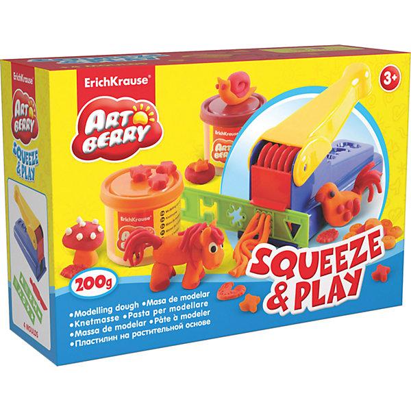 Набор для лепки: Пластилин на растительной основе Squeeze &amp; Play 2 цвета по 100гНаборы для лепки<br>Характеристики товара:<br><br>• материал: картонная коробка в термоплёнке<br>• в комплект входит: 2 цвета пластилина по 100 г + пресс для пластилина, 2 декоративные линейки, стек<br>• возраст: от 3 лет<br>• габариты упаковки: 22,5х15,3х7,6 см<br>• вес: 529 г<br>• страна производитель: Россия<br><br>Натуральная продукция – настоящая находка для детского творчества. Так. Пластилин на растительной основе станет любимым материалов для творчества у вашего малыша. Мягкий, приятный для тактильного восприятия, он станет фаворитом среди пластилинов у малыша.<br><br>Набор для лепки: Пластилин на растительной основе Squeeze &amp; Play 2 цвета по 100 г, можно купить в нашем интернет-магазине.<br><br>Ширина мм: 225<br>Глубина мм: 153<br>Высота мм: 76<br>Вес г: 529<br>Возраст от месяцев: 36<br>Возраст до месяцев: 2147483647<br>Пол: Унисекс<br>Возраст: Детский<br>SKU: 3293864