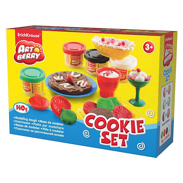 Игровой набор Учимся готовить, Artberry, 4 цвНаборы для лепки<br>Пластилин на растительной основе Cookie Set, 4 цв от Erich Krause (Эрих Краузе) абсолютно безопасен для Вашего малыша! С помощью пластилина ребенок развивает тактильные ощущения и мелкую моторику.<br><br>Дополнительная информация:<br><br>- Состав: 4 цвета пластилина по 35 г + 1 вафельница, 3 тарелки, нож, вилка, ложка, 2 чашечки, 4 фигурных штампа.<br><br>Игровой набор Учимся готовить, Artberry, 4 цв можно купить в нашем магазине.<br>Ширина мм: 225; Глубина мм: 80; Высота мм: 150; Вес г: 444; Возраст от месяцев: 36; Возраст до месяцев: 144; Пол: Унисекс; Возраст: Детский; SKU: 3293868;