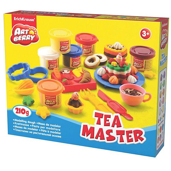 Игровой набор Чайный мастер, Artberry, 6 цвНаборы для лепки<br>Пластилин на растительной основе Tea Master, 6 цв  от Erich Krause (Эрих Краузе) абсолютно безопасен для Вашего малыша!<br><br>Дополнительная информация:<br><br>Состав: 6 цветов пластилина по 35 г + 3 формы-трафарета для лепки, 6 формочек, скалка, стек, тарелка, вилка, чашка. <br>Упаковка: картонная коробка в термоплёнке.<br><br>Ширина мм: 250<br>Глубина мм: 50<br>Высота мм: 200<br>Вес г: 533<br>Возраст от месяцев: 36<br>Возраст до месяцев: 144<br>Пол: Унисекс<br>Возраст: Детский<br>SKU: 3293874
