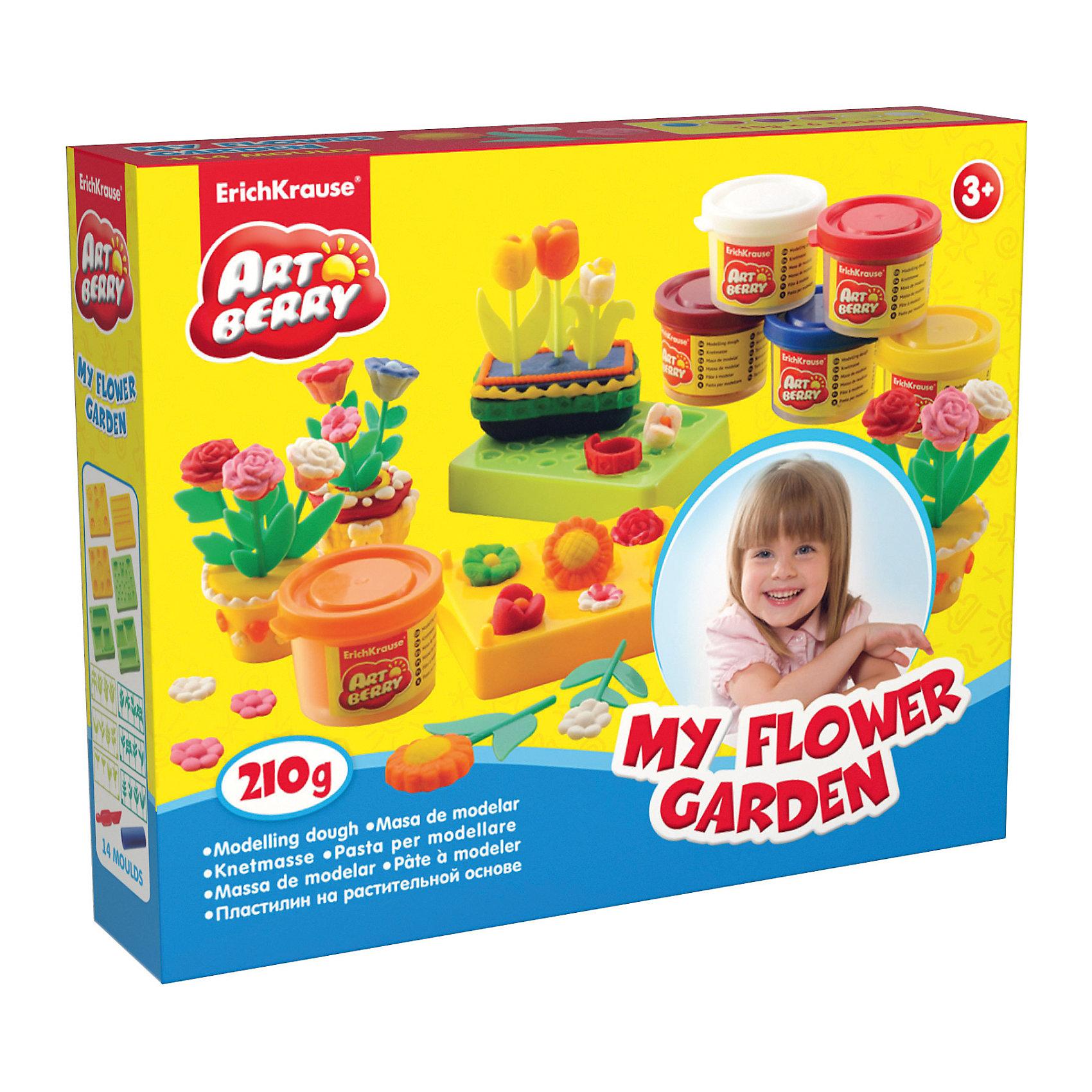 Набор для лепки: Пластилин на растительной основе My Flower Garden 6 цветов по 35гСостав: 6 цветов пластилина по 35 г + 6 форм-трафаретов для лепки, 6 плоских трафаретов-цветы, скалка, стек Упаковка: картонная коробка в термоплёнке<br><br>Ширина мм: 253<br>Глубина мм: 200<br>Высота мм: 52<br>Вес г: 550<br>Возраст от месяцев: 60<br>Возраст до месяцев: 216<br>Пол: Унисекс<br>Возраст: Детский<br>SKU: 3293875