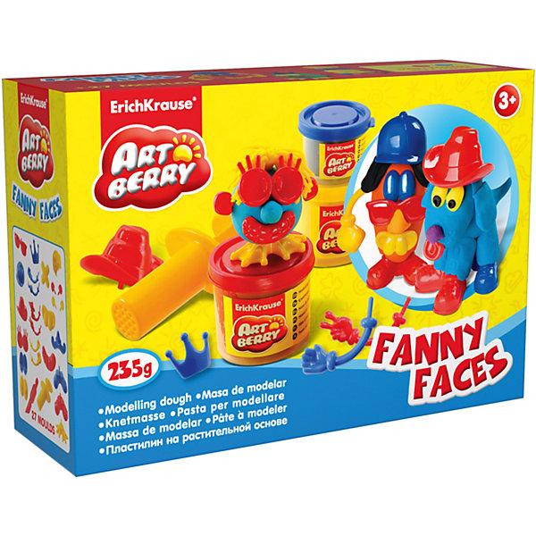 Набор для лепки: Пластилин на растительной основе Funny Faces 2 цвета по 100г, 1 цвет 35гНаборы для лепки<br>Характеристики товара:<br><br>• материал упаковки: картонная коробка в термоплёнке<br>• в комплект входит: 2 цвета пластилина по 100 г, 1 цвет пластилина 35 г + 25 игровых декоративных элементов, шприц, стек<br>• возраст: от 3 лет<br>• габариты упаковки: 31х23х8 см<br>• вес: 500 г<br>• страна производитель: Россия<br><br>Натуральная продукция – настоящая находка для детского творчества. Так, пластилин на растительной основе станет любимым материалов для творчества у вашего малыша. Мягкий, приятный для тактильного восприятия, он станет фаворитом среди пластилинов у малыша.<br><br>Набор для лепки: Пластилин на растительной основе Funny Faces 2 цвета по 100г, 1 цвет по 35 г, можно купить в нашем интернет-магазине.<br>Ширина мм: 315; Глубина мм: 230; Высота мм: 78; Вес г: 488; Возраст от месяцев: 36; Возраст до месяцев: 2147483647; Пол: Унисекс; Возраст: Детский; SKU: 3293876;