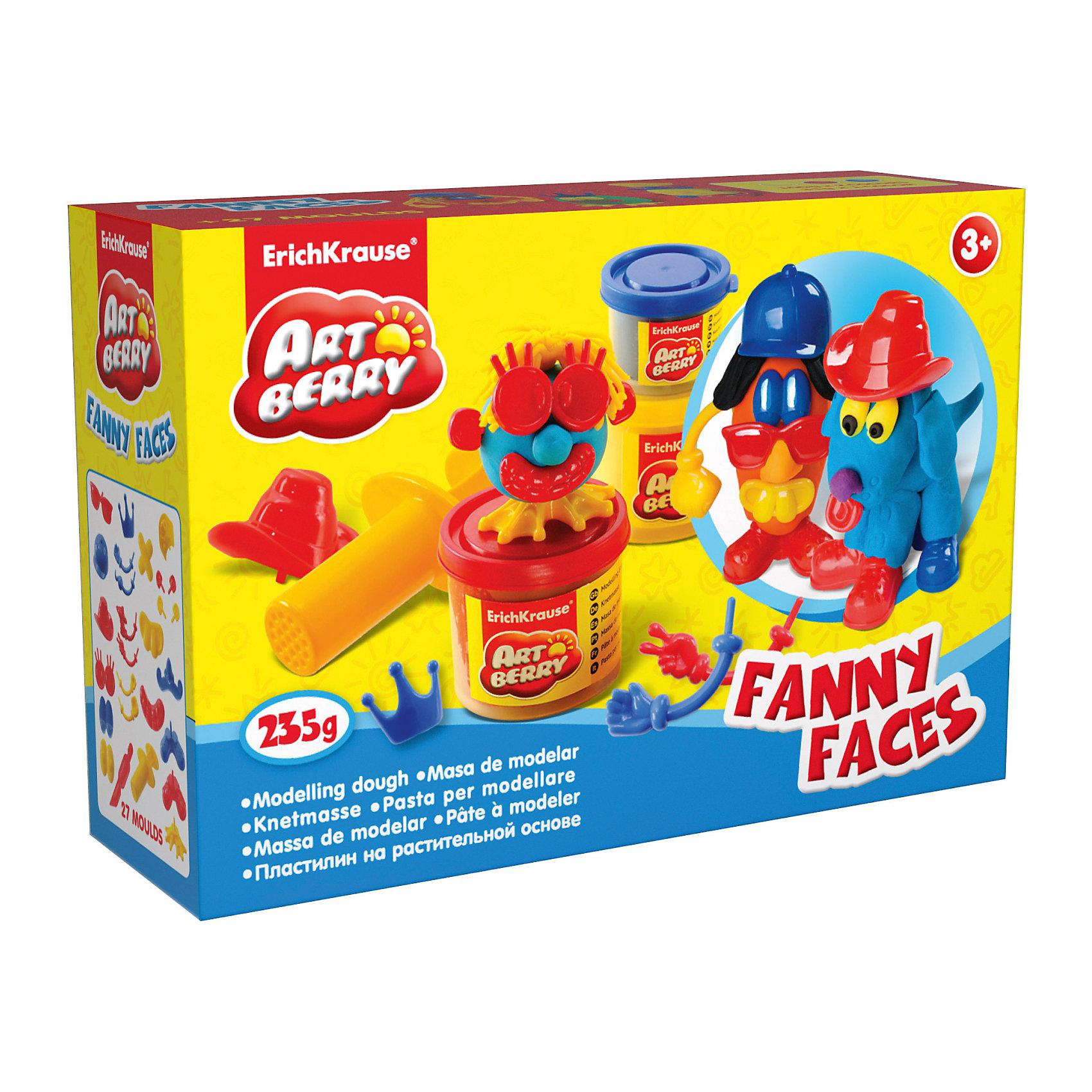 Набор для лепки: Пластилин на растительной основе Funny Faces 2 цвета по 100г, 1 цвет 35гЛепка<br>Состав: 2 цвета пластилина по 100 г, 1 цвет пластилина 35 г + 25 игровых декоративных элементов, шприц, стек Упаковка: картонная коробка в термоплёнке<br><br>Ширина мм: 315<br>Глубина мм: 230<br>Высота мм: 78<br>Вес г: 488<br>Возраст от месяцев: 60<br>Возраст до месяцев: 216<br>Пол: Унисекс<br>Возраст: Детский<br>SKU: 3293876