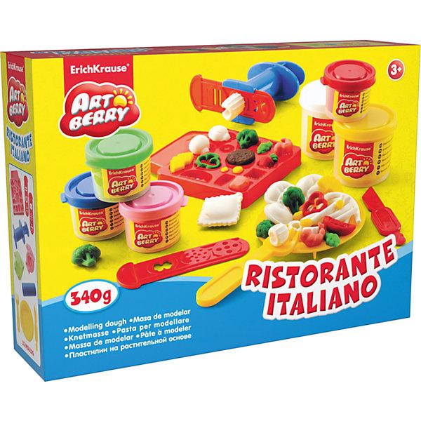 Набор для лепки: Пластилин на растительной основе Ristorante Italiano, 6 цветовНаборы для лепки<br>Характеристики товара:<br><br>• материал упаковки: картонная коробка в термоплёнке<br>• в комплект входит: 2 цвета пластилина по 100 г, 4 цвета пластилина по 35 г + форма-трафарет для лепки, 2 формочки, скалка, стек, вилка, тарелка, шприц, 2 декоративные линейки<br>• возраст: от 3 лет<br>• габариты упаковки: 31х23х8 см<br>• вес: 700 г<br>• страна производитель: Россия<br><br>Натуральная продукция – настоящая находка для детского творчества. Так, пластилин на растительной основе станет любимым материалов для творчества у вашего малыша. Мягкий, приятный для тактильного восприятия, он станет фаворитом среди пластилинов у малыша.<br><br>Набор для лепки: Пластилин на растительной основе Ristorante Italiano 2 цвета по 100г, 4 цвета по 35 г, можно купить в нашем интернет-магазине.<br><br>Ширина мм: 315<br>Глубина мм: 230<br>Высота мм: 78<br>Вес г: 760<br>Возраст от месяцев: 36<br>Возраст до месяцев: 2147483647<br>Пол: Унисекс<br>Возраст: Детский<br>SKU: 3293877