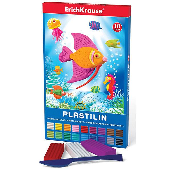 Пластилин со стеком, 18 цвРисование и лепка<br>Пластилин со стеком, 18 цв Erich Krause (Эрих Краузе) это школьный пластилин, который производится на основе безопасных для Вашего малыша компонентов!Сохраняет свою форму, не застывает на воздухе. Бруски пластилина уложены в пластиковый прозрачный поддон, обеспечивающий сохранность внешнего вида и потребительских свойств.<br>Ширина мм: 150; Глубина мм: 15; Высота мм: 200; Вес г: 383; Возраст от месяцев: 36; Возраст до месяцев: 144; Пол: Унисекс; Возраст: Детский; SKU: 3293882;