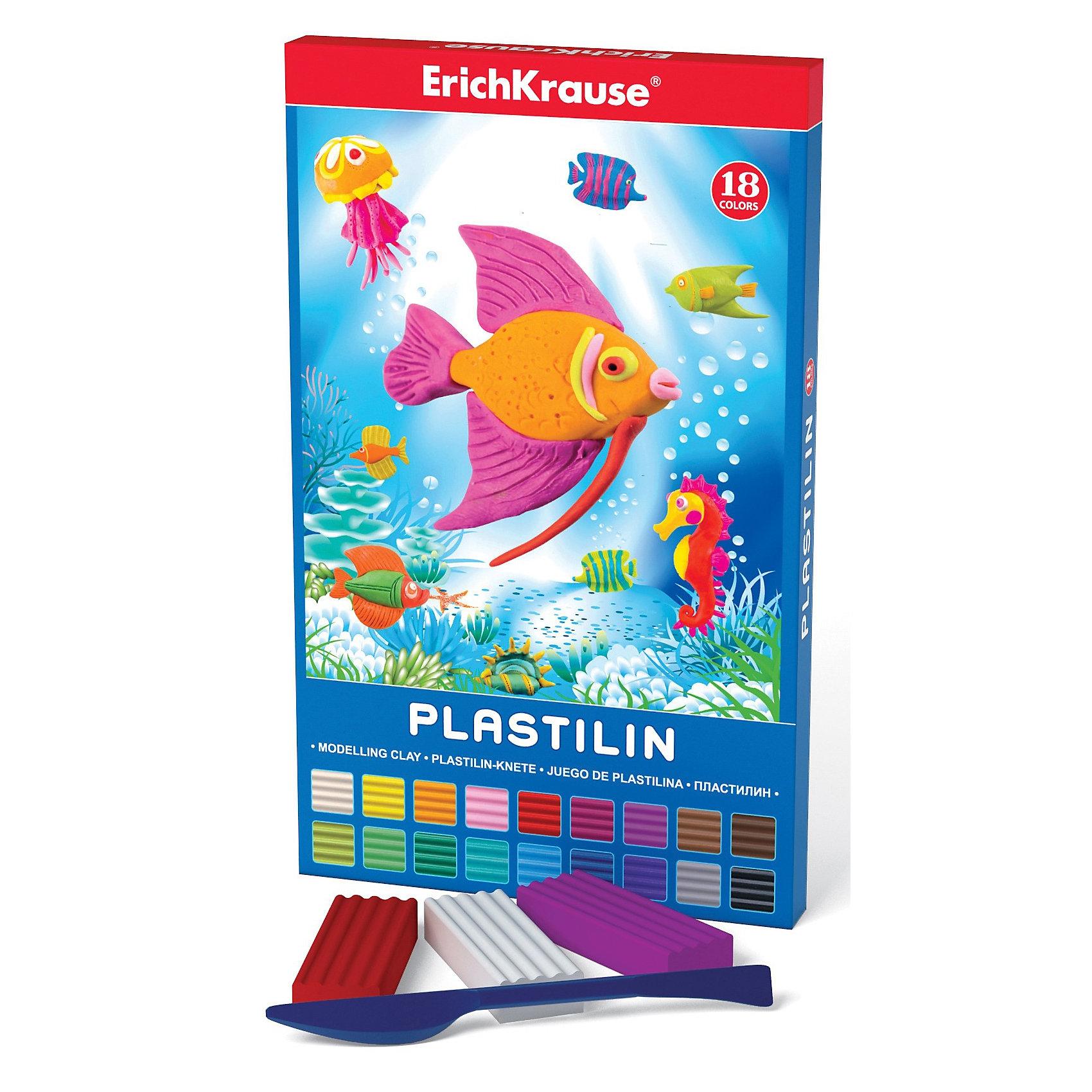 Пластилин со стеком, 18 цвРисование и лепка<br>Пластилин со стеком, 18 цв Erich Krause (Эрих Краузе) это школьный пластилин, который производится на основе безопасных для Вашего малыша компонентов!Сохраняет свою форму, не застывает на воздухе. Бруски пластилина уложены в пластиковый прозрачный поддон, обеспечивающий сохранность внешнего вида и потребительских свойств.<br><br>Ширина мм: 150<br>Глубина мм: 15<br>Высота мм: 200<br>Вес г: 383<br>Возраст от месяцев: 36<br>Возраст до месяцев: 144<br>Пол: Унисекс<br>Возраст: Детский<br>SKU: 3293882
