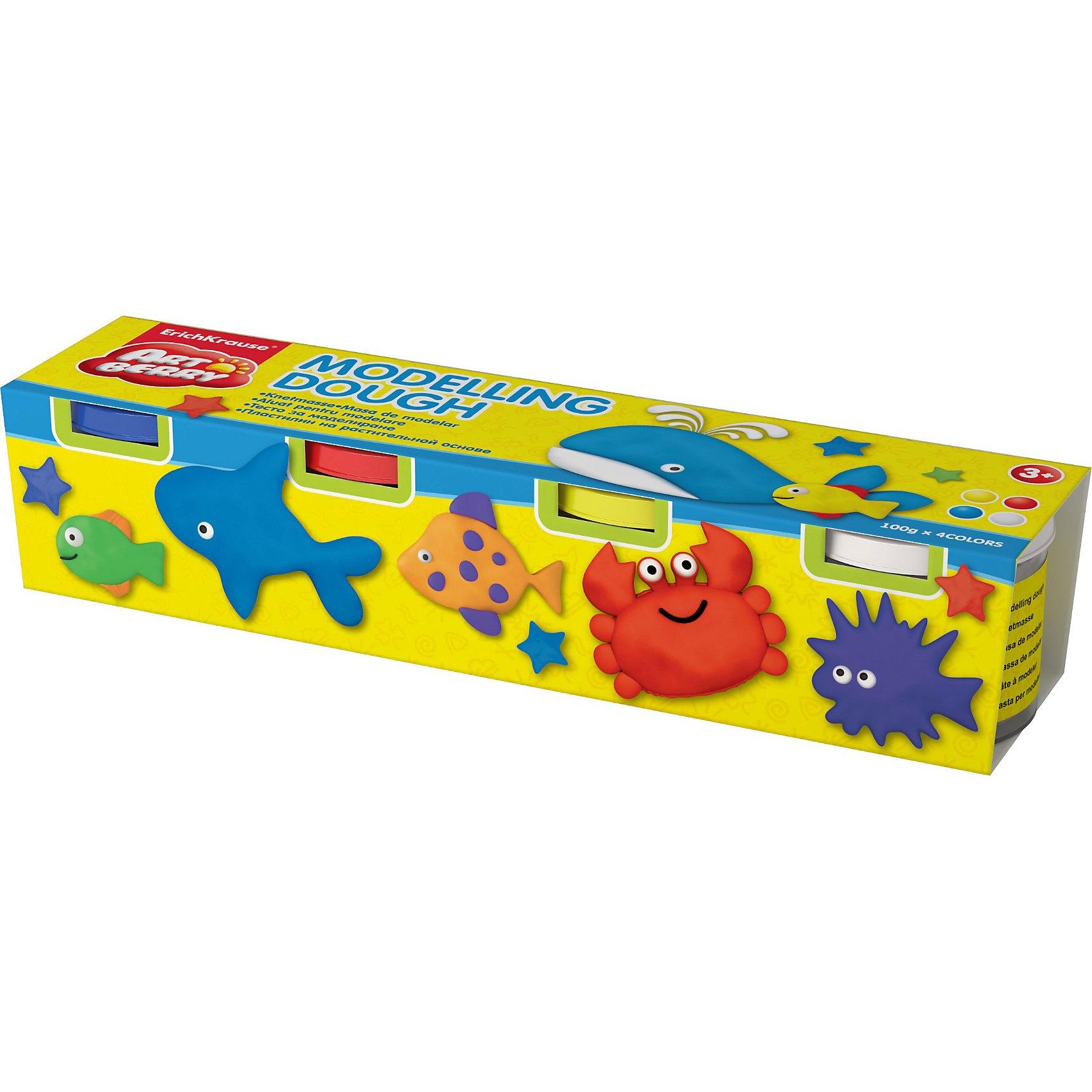 Пластилин на растительной основе Modelling Dough ArtberryПластилин на растительной основе Modelling Dough от Erich Krause (Эрих Краузе) абсолютно безопасен для Вашего малыша!<br><br>Дополнительная информация:<br><br>Состав: 4 цветов по 100 гр., <br>упаковка- картонный рукав<br><br>Ширина мм: 200<br>Глубина мм: 40<br>Высота мм: 40<br>Вес г: 503<br>Возраст от месяцев: 36<br>Возраст до месяцев: 144<br>Пол: Унисекс<br>Возраст: Детский<br>SKU: 3293897