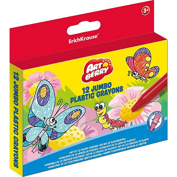 Пластиковые мелки Jumbo  Artberry, 12цвМасляные и восковые мелки<br>Пластиковые мелки Jumbo  Artberry Erich Krause (Эрих Краузе), 12 цв очень яркие и удобные!<br><br>Дополнительная информация:<br><br>длина 90мм, диаметр 12мм, <br>круглый корпус<br><br>Ширина мм: 140<br>Глубина мм: 10<br>Высота мм: 125<br>Вес г: 158<br>Возраст от месяцев: 36<br>Возраст до месяцев: 144<br>Пол: Унисекс<br>Возраст: Детский<br>SKU: 3293905