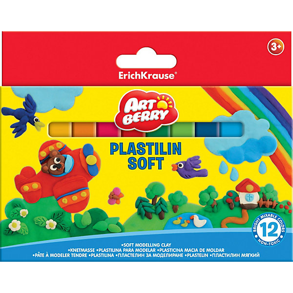 Пластилин мягкий, Artberry, 12 цвРисование и лепка<br>Пластилин мягкий Artberry, 12 цв  от Erich Krause (Эрих Краузе) производится на основе безопасных для Вашего малыша компонентов высокого качества!  Не застывает на воздухе. <br><br>Дополнительная информация:<br><br>12 цветов/15г,<br>с европодвесом<br><br>Легко разминается, пластичная структура позволяет лепить самые маленькие предметы.<br><br>Ширина мм: 160<br>Глубина мм: 15<br>Высота мм: 120<br>Вес г: 202<br>Возраст от месяцев: 36<br>Возраст до месяцев: 144<br>Пол: Унисекс<br>Возраст: Детский<br>SKU: 3293909