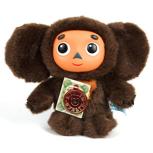 Мягкая игрушка  Чебурашка, со звуком, МУЛЬТИ-ПУЛЬТИМузыкальные мягкие игрушки<br>Милая и забавная мягкая игрушка, которая станет отличным подарком для Вашего ребенка.<br><br>Этот Чебурашка высотой 17 см. выглядит в точности как на экране и озвучен голосом героя мультфильма. Чебурашка произносит 9 фраз и поет две песенки из мультфильма Чебурашка и крокодил Гена. <br><br><br>Дополнительная информация:<br><br>- Размер игрушки: 17 см.<br>- Материал: текстиль.<br>- Игрушка озвучена голосом героя мультфильма, произносит 9 фраз, поет 2 песенки.<br><br>Мягкую игрушку  Чебурашка, со звуком, МУЛЬТИ-ПУЛЬТИ можно купить в нашем магазине.<br><br>Ширина мм: 150<br>Глубина мм: 110<br>Высота мм: 170<br>Вес г: 208<br>Возраст от месяцев: 36<br>Возраст до месяцев: 1188<br>Пол: Унисекс<br>Возраст: Детский<br>SKU: 3295319