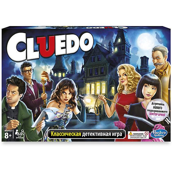 Игра Клуэдо обновленная, HasbroСтратегические настольные игры<br>Игра Клуэдо обновленная, Hasbro - это уникальная возможность почуствовать себя великим сыщиком и разгатывателям интриг. Игровое поле представляет собой таинственный особняк, в котором произошло убийство таинственного миллионера Сэмюэля Блэка. Где? В каком потаённом углу и кто из гостей его совершил?  Пользуясь картами интриг, узнай все сплетни и показания по поводу убийства, разыщи улики и найди преступника!<br><br>Дополнительная информация:<br><br>- В комплекте:<br>- 6 фишек гостей,<br>- колода карт интриг,<br>- колода слухов,<br>- 6 карт личностей,<br>- скандальный конверт,<br>- блокнот с ключами к разгадке,<br>- 2 игральных кубика,<br>- 9 предметов преступления.<br>- Игра изготовлена из картона и пластмассы.<br>- Размер упаковки: 5х40х27 см<br>- Предназначена для детей 8 до 12 лет <br><br>Классическая детективная игра развивает интуицию и дедукцию, позволяет построить логические цепочки для того чтобы выйти на след преступника.<br><br>Игру Клуэдо обновленная, Hasbro можно купить в нашем магазине.<br>Ширина мм: 53; Глубина мм: 403; Высота мм: 269; Вес г: 890; Возраст от месяцев: 96; Возраст до месяцев: 2147483647; Пол: Унисекс; Возраст: Детский; SKU: 3295477;