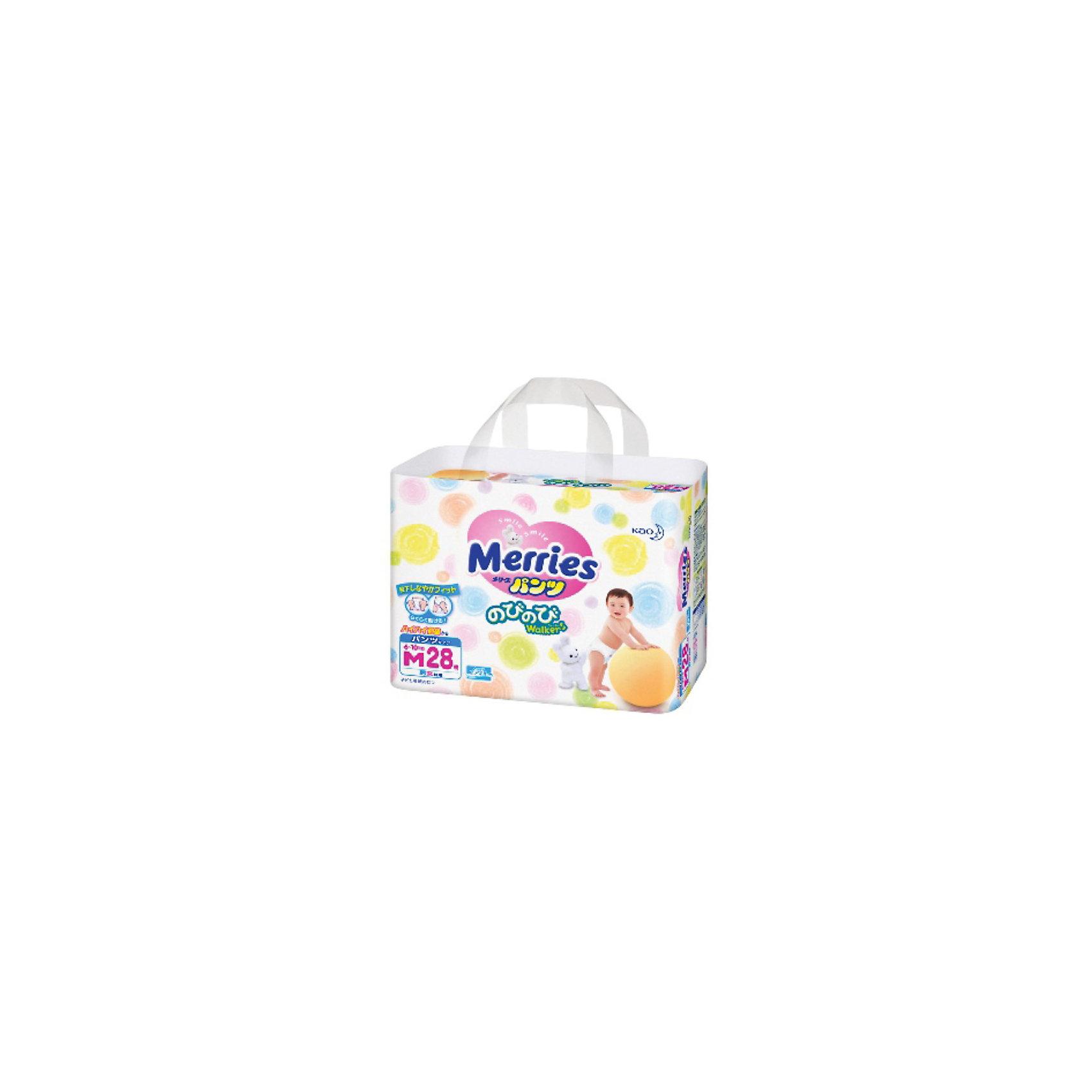 Трусики-подгузники для детей Merries, M 6-10 кг, 28 шт.