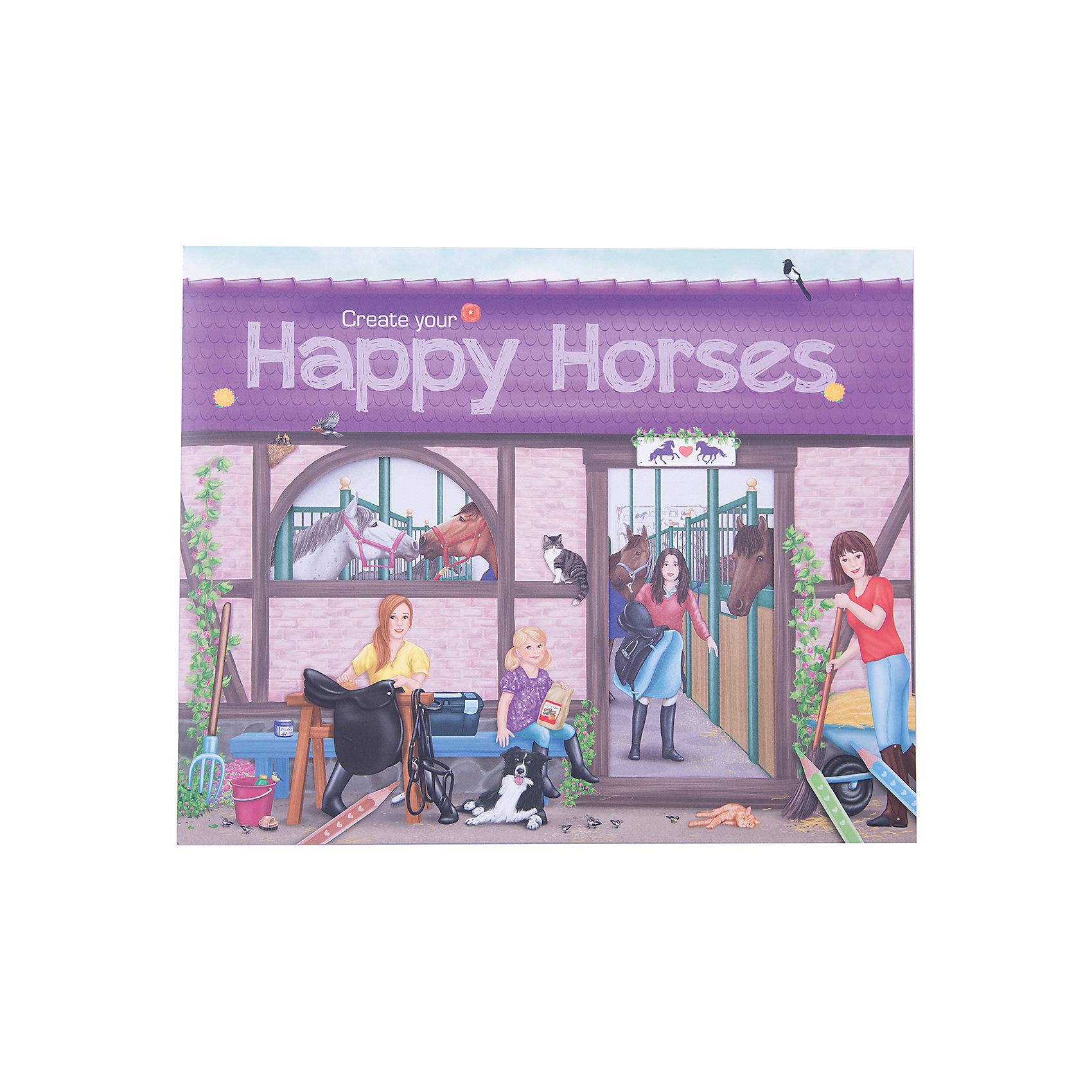 Альбом с наклейками Create your Happy Horses, Creative StudioАльбом с наклейками Create your Happy Horses, Creative Studio<br><br>Характеристики:<br><br>• В комплекте: раскраска, 6 листа с наклейками <br>• Возраст: от 3 до 6 лет<br>• Количество страниц: 32<br><br>Этот альбом из серии CreativeStudio содержит 32 листа с различными сюжетами из мира лошадей. На 6 листах с наклейками ребенок обнаружит вещи, которые помогут сделать этот мир реалистичным и разнообразить игру. Эта книга помогает развитию воображения вашего ребенка и его мелкой моторики. <br><br>Альбом с наклейками Create your Happy Horses, Creative Studio можно купить в нашем интернет-магазине.<br><br>Ширина мм: 268<br>Глубина мм: 301<br>Высота мм: 33<br>Вес г: 285<br>Возраст от месяцев: 36<br>Возраст до месяцев: 1164<br>Пол: Женский<br>Возраст: Детский<br>SKU: 3296282