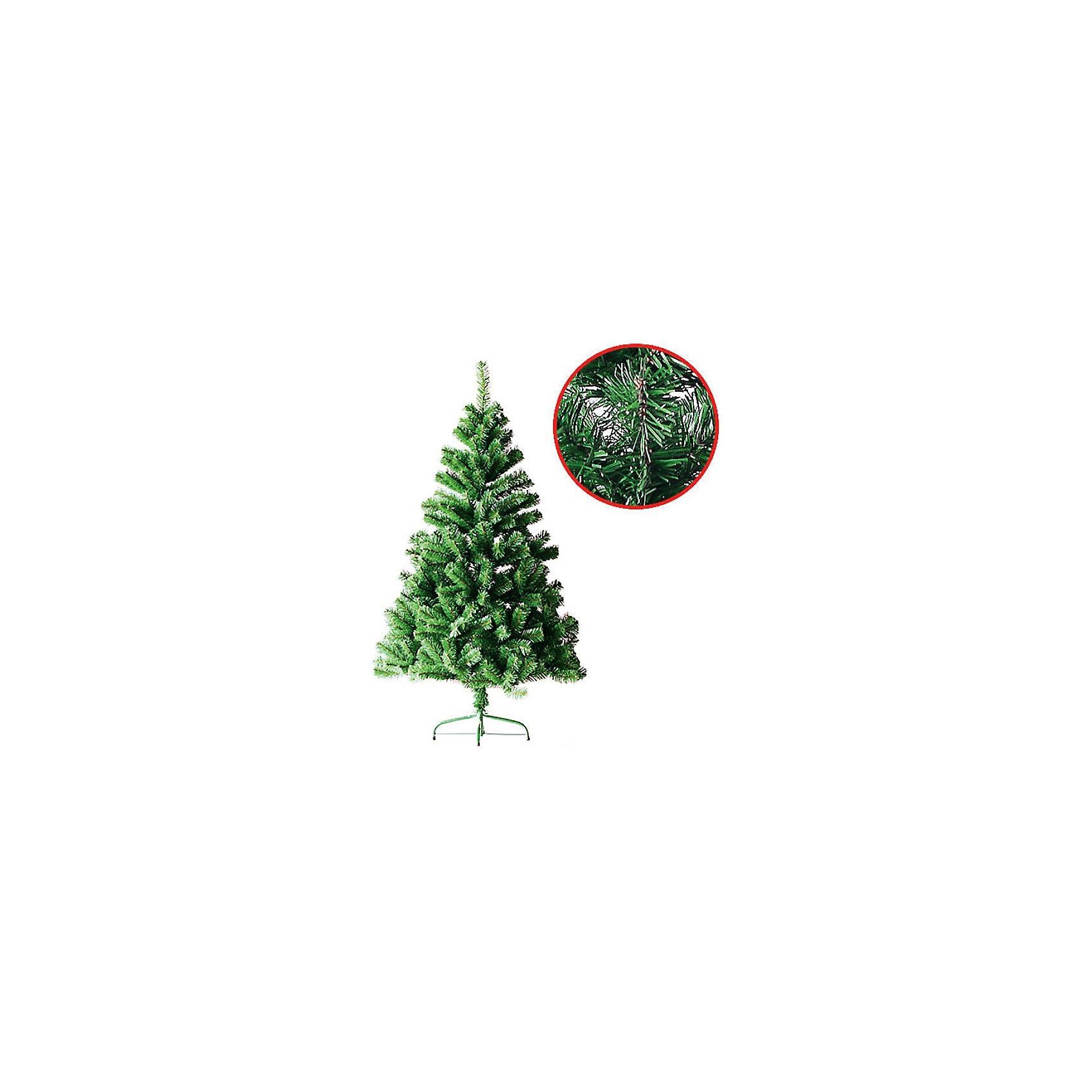 Ель зеленая, 150см, 400 веток, металлическая подставка, TUKZARВсё для праздника<br>Ель зеленая, Tukzar (Тукзар) станет замечательным украшением Вашего интерьера и отличной альтернативой для тех, кто не хочет покупать живую елку. Нарядная детализированная елочка с 400 ветками и пышной хвоей выглядит как настоящая живая ель, она порадует и взрослых и детей и создаст волшебную атмосферу новогодних праздников. Елочка легко собирается их двух секций с прочным металлическим основанием, имеется металлическая подставка.  <br><br>Дополнительная информация:<br><br>- Высота ели: 150 см.<br><br>Ель зеленую, Tukzar (Тукзар) можно купить в нашем интернет-магазине.<br><br>Ширина мм: 950<br>Глубина мм: 140<br>Высота мм: 160<br>Вес г: 2500<br>Возраст от месяцев: 36<br>Возраст до месяцев: 156<br>Пол: Унисекс<br>Возраст: Детский<br>SKU: 3297621