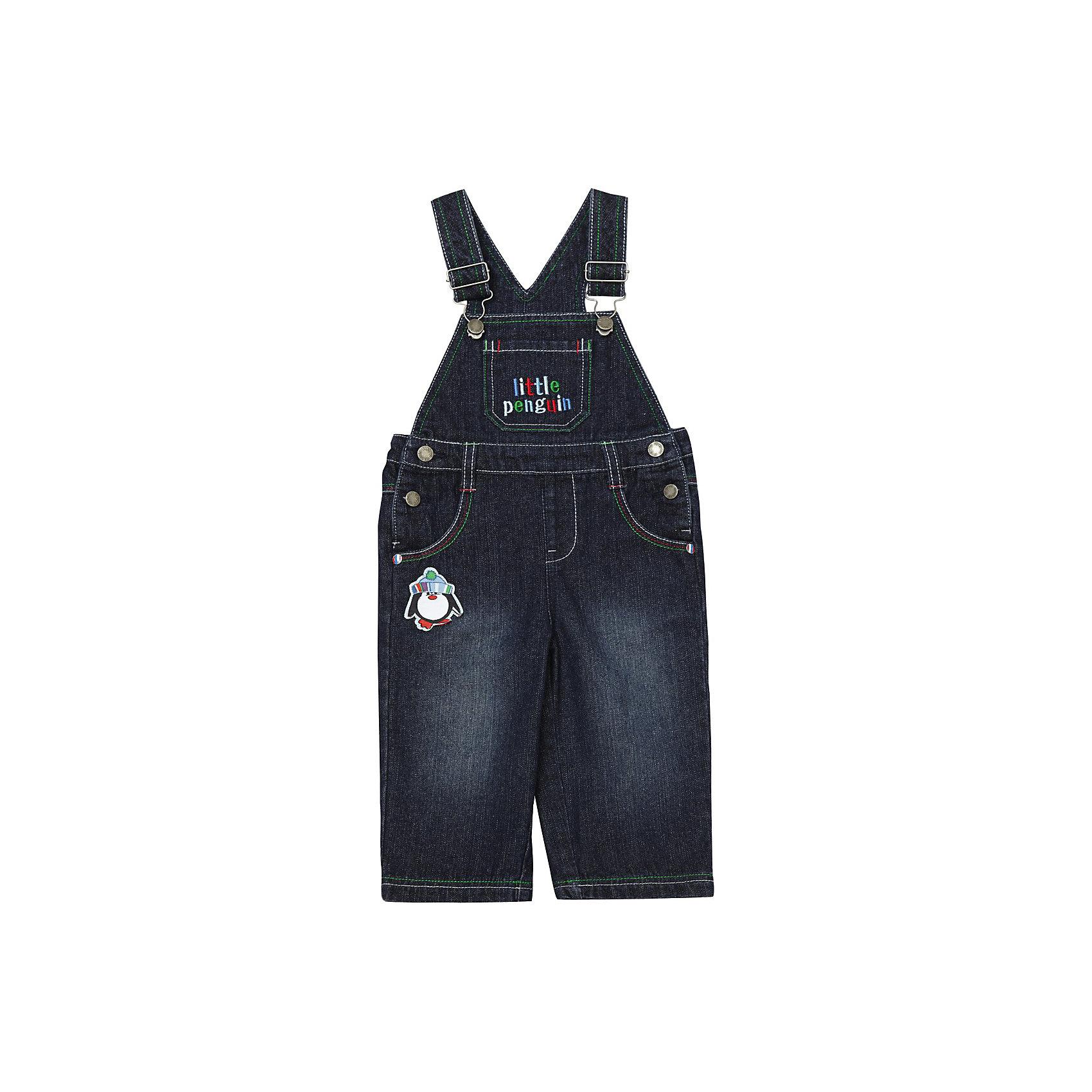 Комбинезон джинсовый для мальчика PlayTodayКомбинезоны<br>* джинсовый полукомбинезон для мальчика <br>* полукомбинезон на регулируемых по длине бретелях<br>* застежка - металлические болты по бокам<br>* по талии внутренняя регулируемая резинка<br>* карманы спереди и сзади; на груди карман украшен вышивкой little penguin; карманы сзади накладные, декорированы вышивкой  <br>* пуговицы декорированы логотипом марки playToday<br>* спереди и сзади декоративные шевроны<br>* практичный и стильный комбинезон на каждый день из коллекции Маленькие пингвины<br>Состав:<br>100% хлопок<br><br>Полукомбинезон для мальчика PlayToday (Плэйтудей) можно купить в нашем магазине.<br><br>Ширина мм: 157<br>Глубина мм: 13<br>Высота мм: 119<br>Вес г: 200<br>Цвет: синий<br>Возраст от месяцев: 3<br>Возраст до месяцев: 6<br>Пол: Мужской<br>Возраст: Детский<br>Размер: 68,92,86,80,74<br>SKU: 3302428