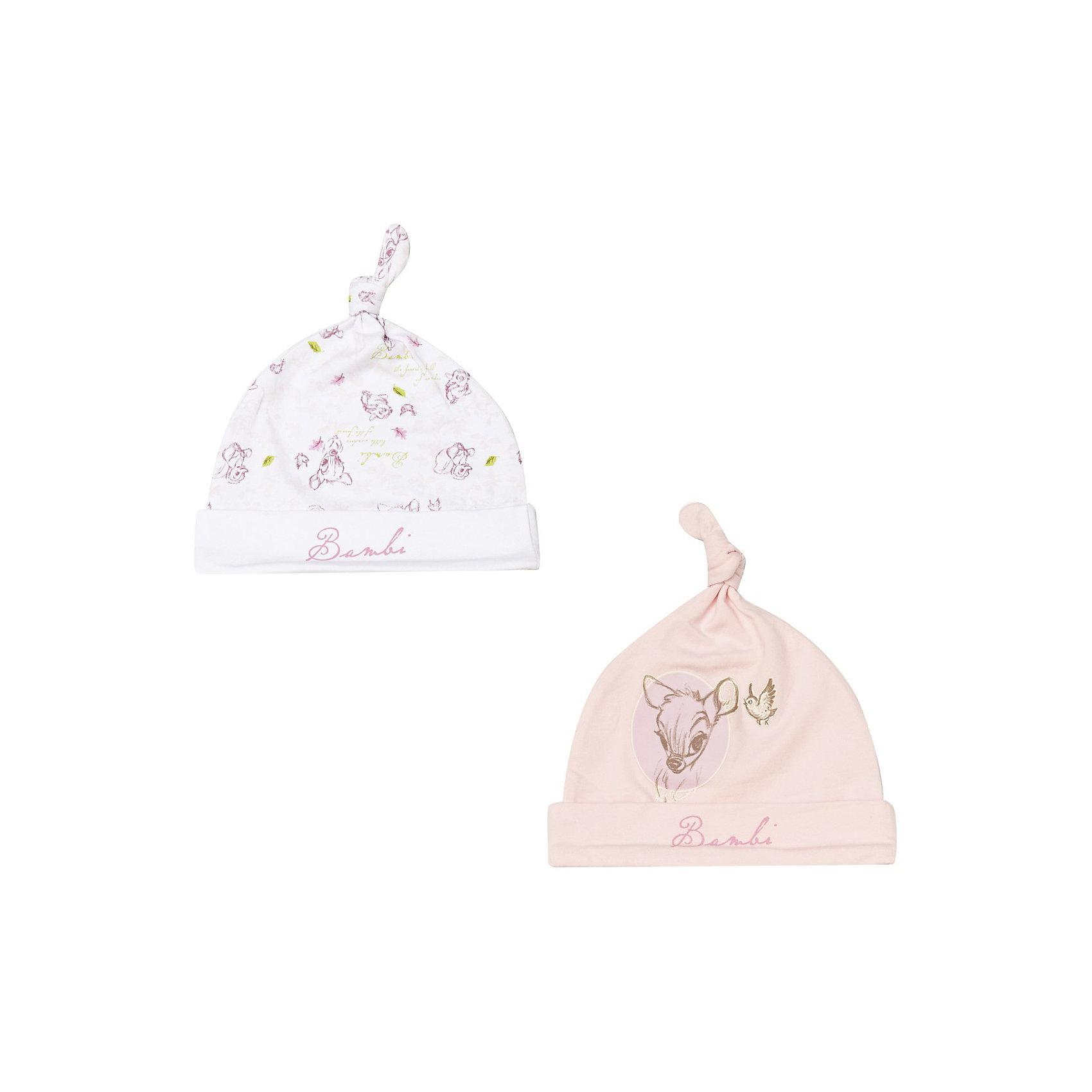 Шапка для девочки PlayToday* прекрасный комплект из двух шапочек для новорожденного малыша<br>    * мягкая трикотажная шапочка с графичным принтом плотно прилегает к голове<br>    * модель с отворотом<br>    * украшена узелком на макушке<br>Состав:<br>95% хлопок, 5% эластан<br><br>Ширина мм: 89<br>Глубина мм: 117<br>Высота мм: 44<br>Вес г: 155<br>Цвет: розовый<br>Возраст от месяцев: 6<br>Возраст до месяцев: 9<br>Пол: Женский<br>Возраст: Детский<br>Размер: 46,44,40<br>SKU: 3303343