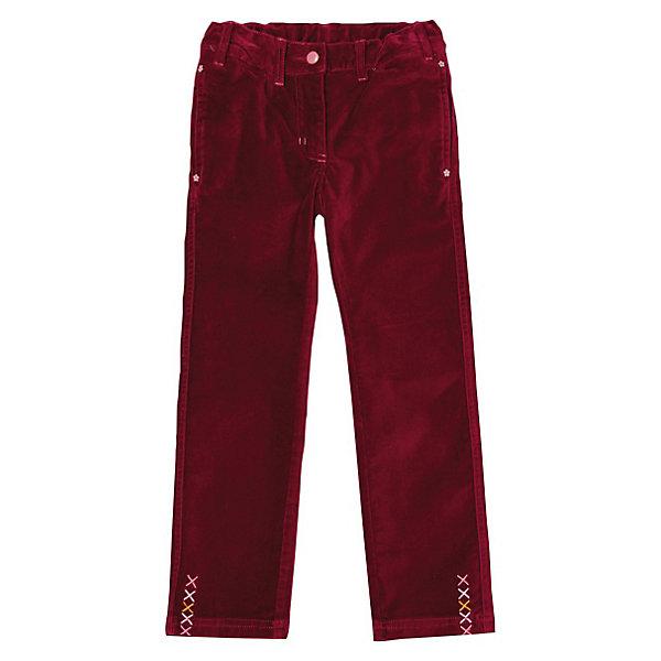 Брюки для девочки PlayTodayБрюки<br>* бордовые брюки из велюра на каждый день для стильной девочки <br>* пояс с внутренней резинкой, регулируется пуговицами<br>* застежка - пуговица, молния<br>* боковые карманы декорированы фигурными заклепками, задние карманы застегиваются на пуговицу<br>* декор - вышивка на брючинах<br>Состав:<br>97% хлопок, 3% эластан<br><br>Брюки для девочки PlayToday (Плэйтудей) можно купить в нашем магазине.<br><br>Ширина мм: 215<br>Глубина мм: 88<br>Высота мм: 191<br>Вес г: 336<br>Цвет: бордовый<br>Возраст от месяцев: 24<br>Возраст до месяцев: 36<br>Пол: Женский<br>Возраст: Детский<br>Размер: 98,122,110,104,116,128<br>SKU: 3304397