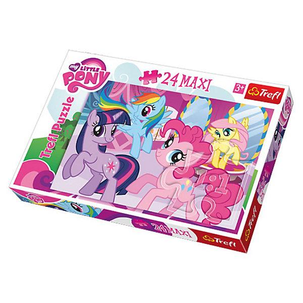 Пазл  Пони среди друзей, 24 детали, My little PonyПазлы для малышей<br>Пазл Пони среди друзей от Trefl  - увлекательный набор для творчества, который будет отличным подарком для Вашей девочки. С помощью входящих в набор деталей она сможет собрать красочную картинку с любимыми многими девочками лошадками из мультфильма Моя маленькая пони (My Little Pony). Пазл отличается высоким качеством полиграфии и насыщенными цветами, детали прекрасно скрепляются между собой. Собирание пазла способствует развитию логического мышления, внимания, мелкой моторики и координации движений.<br> <br>Дополнительная информация:<br><br>- Материал: картон. <br>- Размер собранной картинки: 60 х 40 см.<br>- Размер упаковки: 24,3 x 9 x 34 см.<br>- Вес: 190 гр.<br><br>Пазл Пони среди друзей, Trefl можно купить в нашем интернет-магазине.<br>Ширина мм: 400; Глубина мм: 265; Высота мм: 45; Вес г: 649; Возраст от месяцев: 48; Возраст до месяцев: 72; Пол: Женский; Возраст: Детский; Количество деталей: 24; SKU: 3306007;