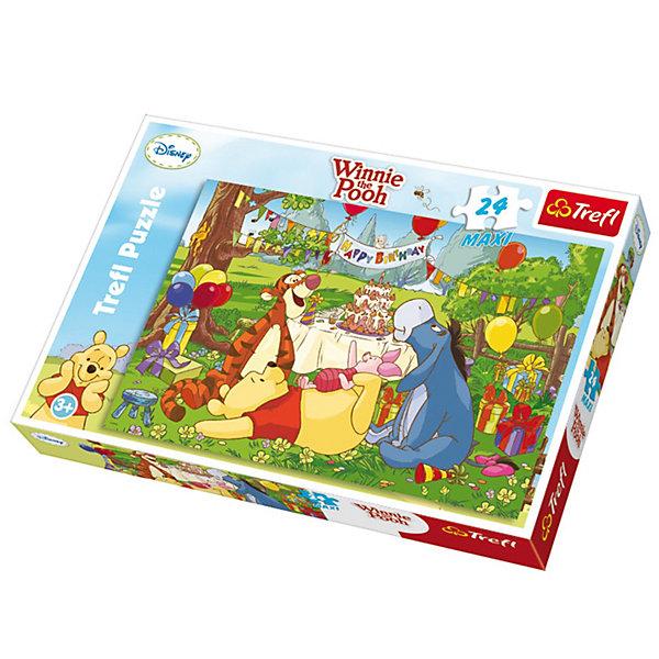 Пазлы Макси «День Рождения», 24 элементаПазлы для малышей<br>День Рождения – это самый замечательный и удивительный детский праздник, на котором всегда будут торт, шарики, подарки, цветы и, конечно же, самые лучшие друзья. Пазл «День Рождения» от известной компании Trefl станет хорошим подарком для маленького именинника. Собирание пазлов влияет на развитие мелкой моторики, визуального восприятия, мышления, логики и усидчивости. А после того, как картинка будет готова, она принесет еще много радости, ведь ее можно будет повесить в комнате или собрать заново.<br>Количество элементов: 24 шт.<br>Размер картинки: 60х40 см.<br>Для детей от 3 лет.<br>Ширина мм: 270; Глубина мм: 400; Высота мм: 50; Вес г: 620; Возраст от месяцев: 48; Возраст до месяцев: 72; Пол: Унисекс; Возраст: Детский; Количество деталей: 24; SKU: 3306010;
