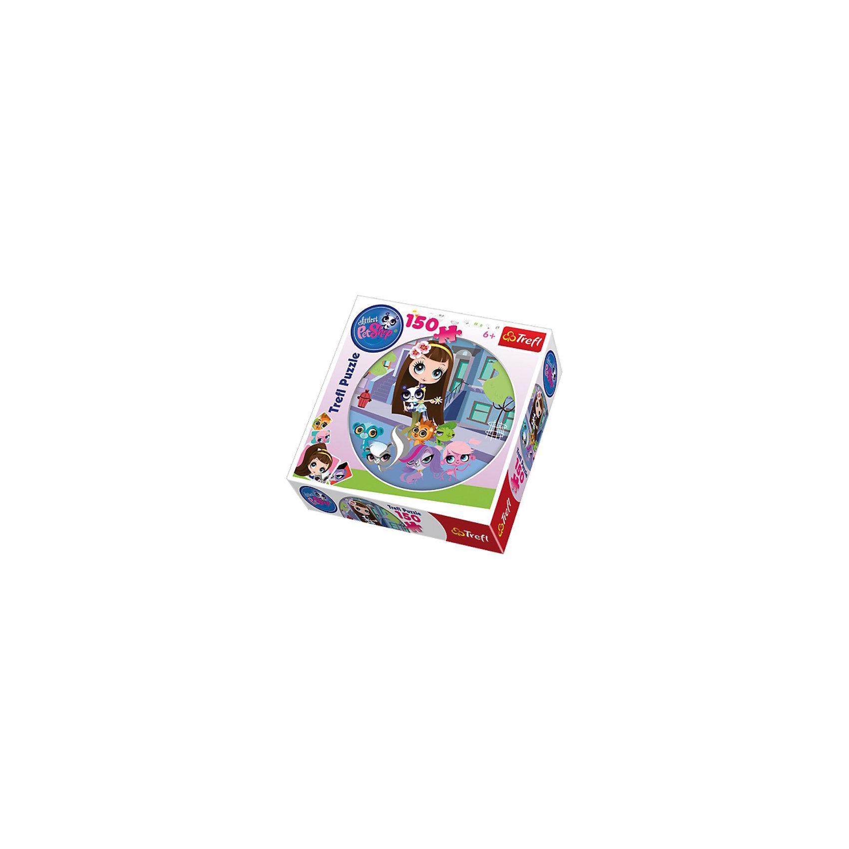 Trefl Пазл  Зоомагазин на прогулке, 150 деталей, Littlest Pet Shop игровые наборы littlest pet shop стильный зоомагазин