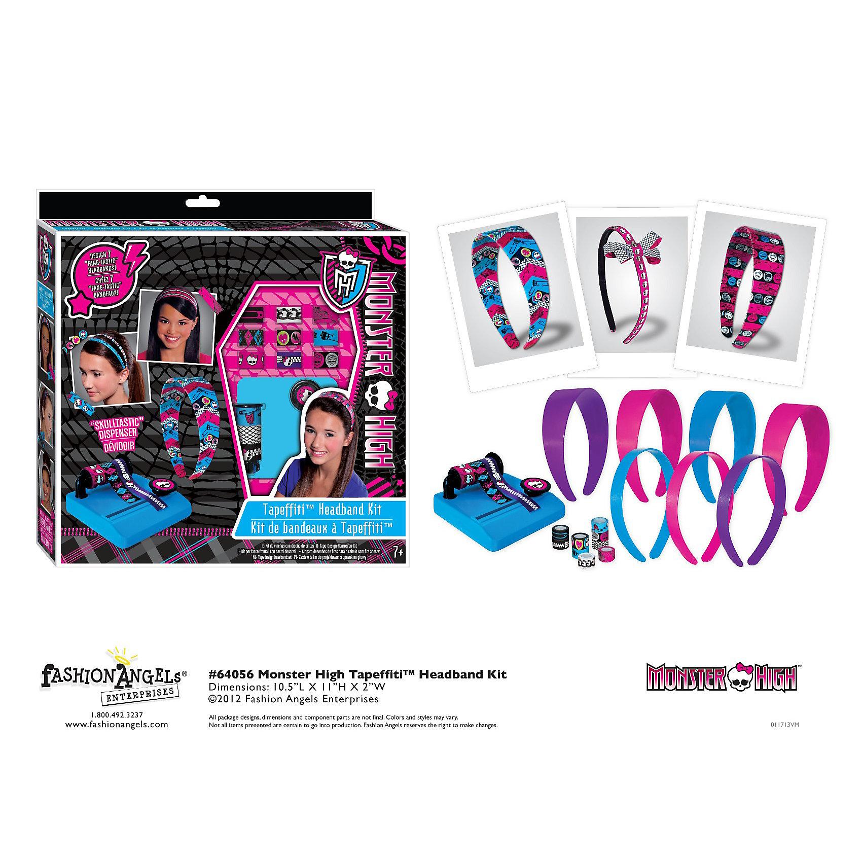 Fashion Angels Набор для декорирования ободков, Monster High набор ободков котенок и зайчик вв2150
