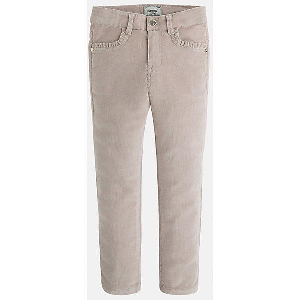 Брюки для девочки MayoralБрюки<br>Мягкие вельветовые брюки от известного испанского бренда для девочки. Изделие обладает следующими особенностями: - зауженный силуэт (scinny); - регулируемый по полноте пояс со шлевками для ремня; - традиционная застежка: кнопка и молния; - 4 кармана; - приятная к телу чуть эластичная плотная ткань (98% хлопок, 2% эластан).<br><br>Брюки для девочки Mayoral (Майорал) можно купить в нашем магазине.<br><br>Ширина мм: 215<br>Глубина мм: 88<br>Высота мм: 191<br>Вес г: 336<br>Цвет: белый<br>Возраст от месяцев: 60<br>Возраст до месяцев: 72<br>Пол: Женский<br>Возраст: Детский<br>Размер: 116,104,110,128,92,128,134,122,98<br>SKU: 3308627