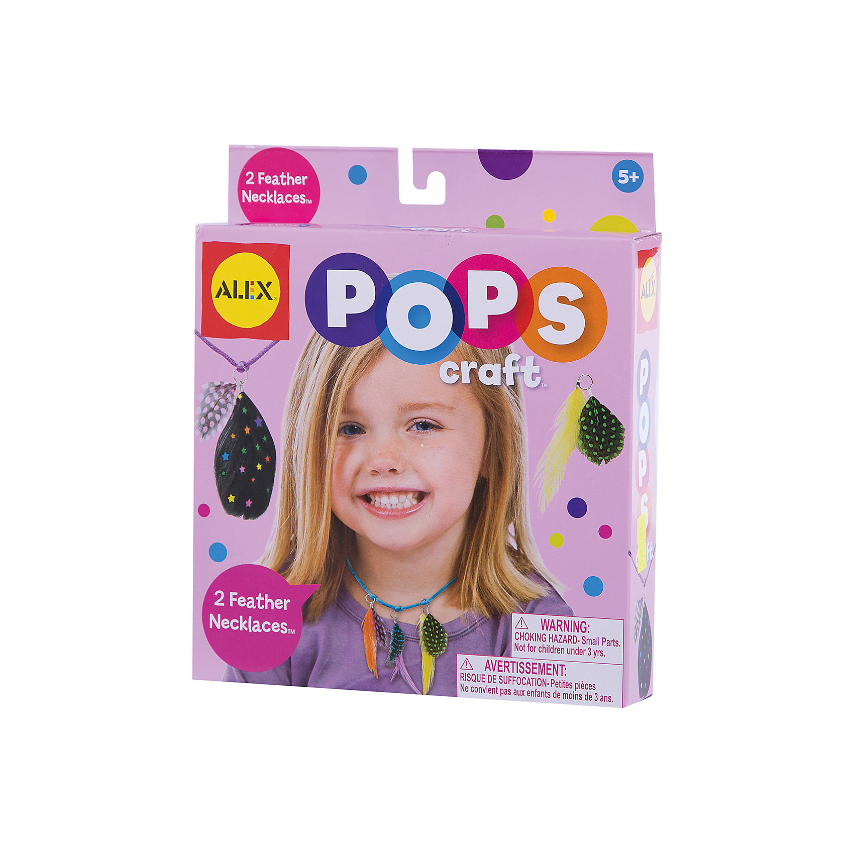 Набор для творчества POPS CRAFT Ожерелья  с цветными перышками ALEXНабор для творчества POPS CRAFT Ожерелья  с цветными перышками от ALEX (Алекс) прекрасный комплект для юных модниц. <br>Маленькой принцессе нужны новые ожерелья для выхода в свет? Не беда! Ей обязательно поможет набор для творчества Ожерелья с цветными перышками. С его помощью можно создать самой два оригинальных ожерелья по собственному дизайну.<br><br>Дополнительная информация: <br>- В наборе: 8 раскрашенных пера, 2 атласных шнурка и простая инструкция.<br>- Размер упаковки: 152х159х108 мм.<br>- Вес: 599 г.<br><br>Набор для творчества POPS CRAFT Ожерелья  с цветными перышками станет прекрасным подарком для творческих принцесс!<br><br>Набор для творчества POPS CRAFT Ожерелья  с цветными перышками ALEX  можно купить в нашем интернет-магазине.<br><br>Ширина мм: 210<br>Глубина мм: 38<br>Высота мм: 180<br>Вес г: 599<br>Возраст от месяцев: 60<br>Возраст до месяцев: 96<br>Пол: Женский<br>Возраст: Детский<br>SKU: 3309711