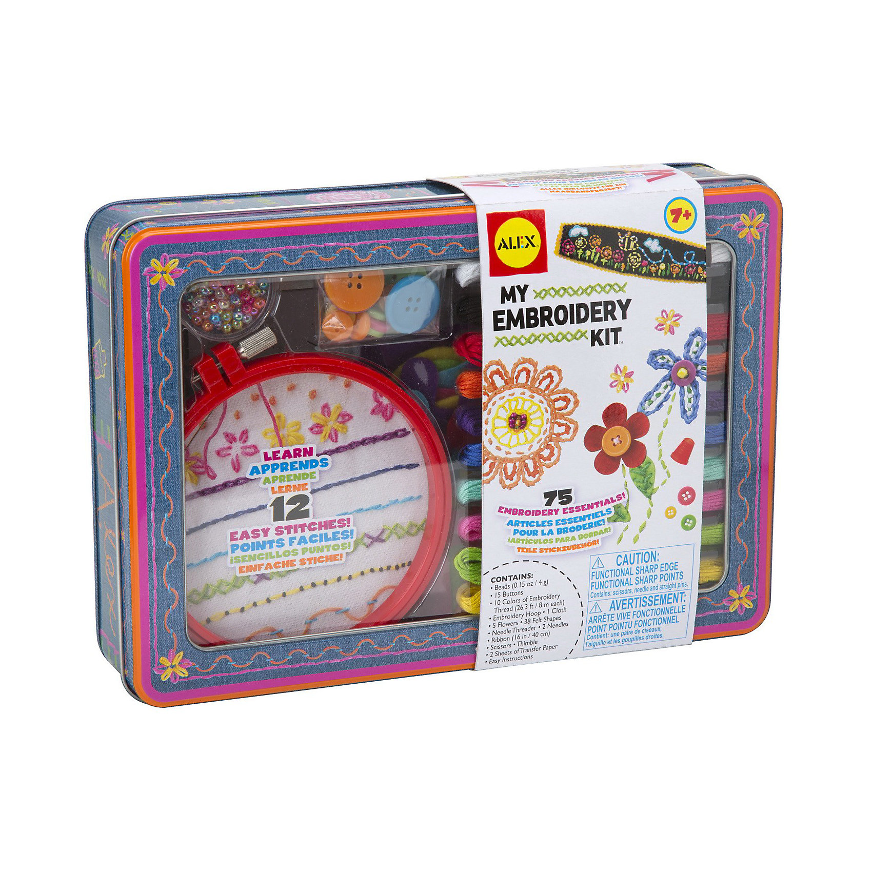 ALEX Большой набор для вышивания ALEX - учим 12 видов стежков alex alex посуда игрушечная chasing butterflies ceramic tea set поймай бабочку 13 предметов