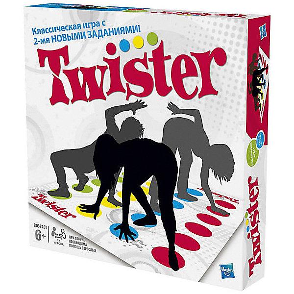 Игра Твистер 2, HasbroХиты продаж<br>Игра «Твистер 2» - это продолжение знаменитой и любимой во всем мире игры. Тысячи детей и взрослых по всему миру весело и активно проводят время с этой замечательной игрой. Казалось бы, обычный коврик с разноцветными кругами и планшет со стрелкой, что может быть проще? И, тем не менее, Твистер - это настоящая легенда, игра, которая заставляет смеяться и поднимает настроение абсолютно каждому играющему. <br>Смысл игры прост: один участник раскручивает стрелку, которая, остановившись, покажет действия, которые должны сделать другой участник. Нужно, соответственно показателям стрелки, поставить ладошки и стопы на круги на поле. Принимать участие в игре могут от двух и более человек. Зачастую участникам приходится принимать очень сложные положения, главное удержаться и не упасть, все это делает игру еще более интересной и веселой. <br><br>Дополнительная информация:<br>Размер игрового поля: 130х180 см.<br>Размер упаковки: 27х27х5 см.<br>Комплектация: игровое поле из пластиковой пленки, планшет со стрелкой, инструкция.<br><br>Скука и Твистер - вещи несовместимые!  Twister 2 отличается от классической игры 2-мя НОВЫМИ ЗАДАНИЯМИ! Новые команды Воздух, и Придумай задание еще больше закрутят игрока!<br><br>Игру Твистер 2, Hasbro можно приобрести в нашем магазине.<br><br>Ширина мм: 50<br>Глубина мм: 267<br>Высота мм: 267<br>Вес г: 560<br>Возраст от месяцев: 96<br>Возраст до месяцев: 180<br>Пол: Унисекс<br>Возраст: Детский<br>SKU: 3310216