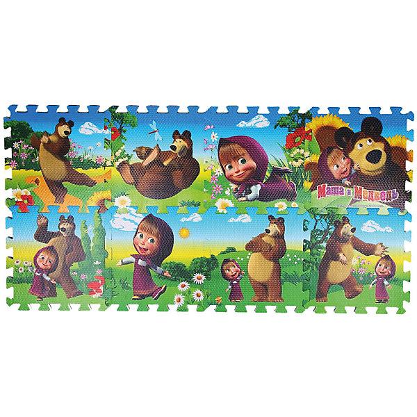 Коврик-пазл Играем вместе Маша и Медведь, 8 деталейМозаика<br>Характеристики:<br><br>• возраст: от 1 года;<br>• тип игрушки: коврик-пазл;<br>• цвет: микс цветов;<br>• размер: 32х9х32 см;<br>• вес: 610 гр;<br>• комплект: 8 элементов;<br>• размер коврика в собранном виде: 118х59х1 см;<br>• страна производитель: Россия.<br><br>Коврик-пазл «Маша и Медведь» 8 сегментов создан по мотивам известного мультсериала «Маша и Медведь», поэтому особенно понравится любителям мультика. Каждый сегмент сдержит фрагмент изображения. В итоге получится красивый коврик из мягкого материала, который смягчает падения. При помощи родителей, ребенок от года сможет справиться с этой задачей. <br><br>Занятия с развивающим ковриком формируют у детей образно-пространственное мышление, логику, тренируют память, моторику рук и тактильное восприятие. Коврик выполнен из современного полимерного материала, который обладает большой плотностью и гибкостью, не рвётся, служит хорошим теплоизолятором, имеет высокую сопротивляемость к перепаду температур.<br><br>Коврик-пазл «Маша и Медведь» 8 сегментов можно купить в нашем интернет-магазине.<br><br>Ширина мм: 310<br>Глубина мм: 80<br>Высота мм: 310<br>Вес г: 630<br>Возраст от месяцев: 12<br>Возраст до месяцев: 84<br>Пол: Унисекс<br>Возраст: Детский<br>SKU: 3315464
