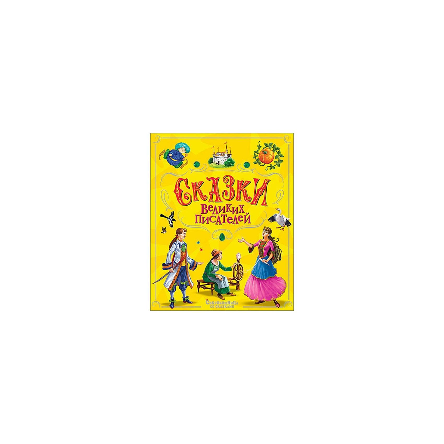 Сказки великих писателей, Ш.Перро, В.Гайф, О.УайлдЗарубежные сказки<br>Сказки Великих Писателей, серия Сокровищница со сказками станет любимой книгой Вашего малыша! Великолепные иллюстрации и любимые классические сказки не оставят равнодушными ни маленьких, ни взрослых!<br>Вашему вниманию представлены сказки великих писателей: <br>Шарль Перо - Золушка, Спящая красавица, Хохлик;<br>Вильгельм Гауф - Маленький Мук, Карлик нос;<br>Оскар Уайлд - Мальчик-Звезда<br><br>Дополнительная информация:  <br><br>Автор: Сокровищница со сказками. <br>Переплет:твердый.   <br>Количество страниц: 144  <br><br>Станет ярким и полезным подарком Вашему малышу!<br><br>Ширина мм: 295<br>Глубина мм: 240<br>Высота мм: 15<br>Вес г: 1050<br>Возраст от месяцев: 48<br>Возраст до месяцев: 72<br>Пол: Унисекс<br>Возраст: Детский<br>SKU: 3321532