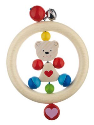 Игрушка-кольцо Медвежонок с сердцем , HEIMESS