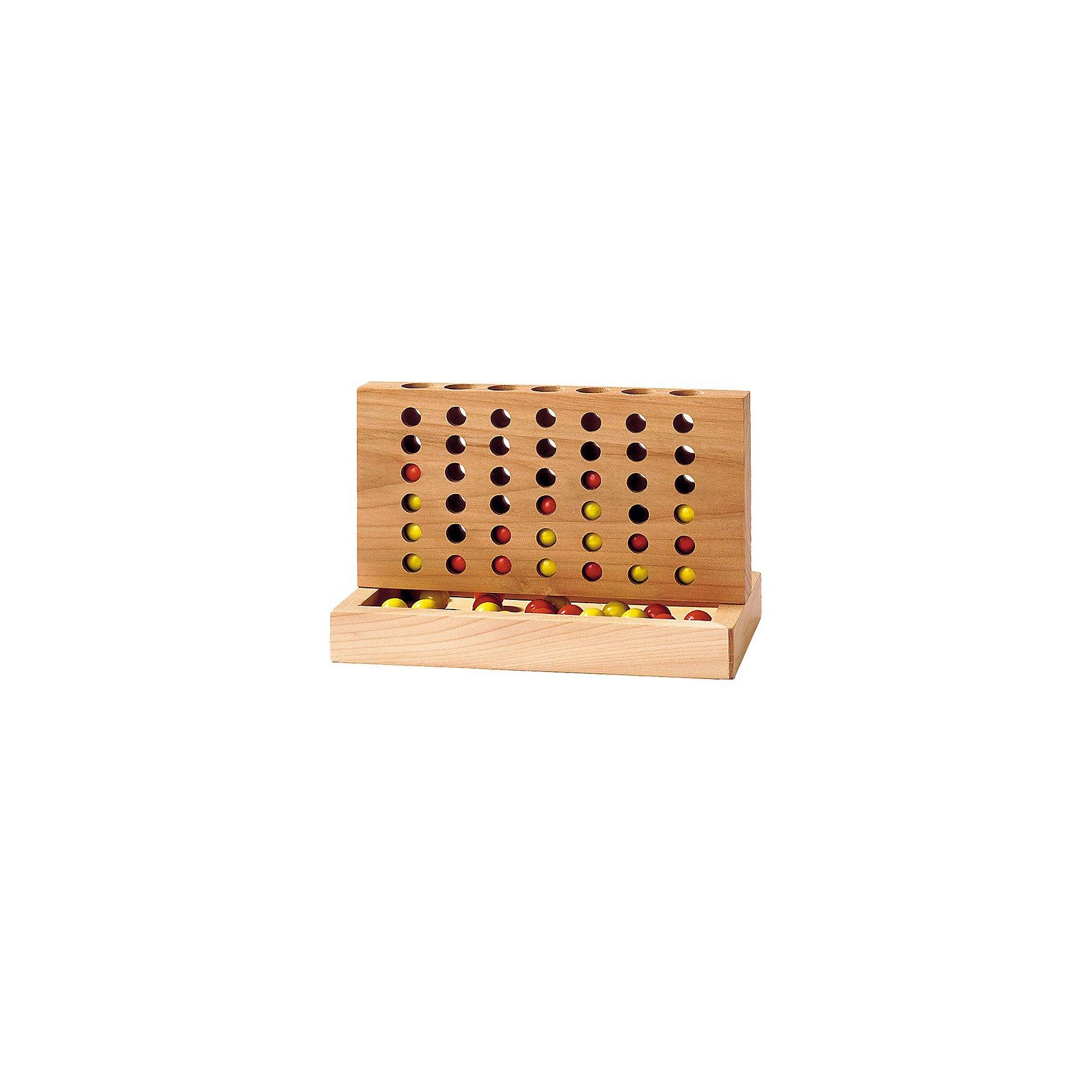 Игра Четыре в ряд, TOYS PUREИгра Четыре в ряд, TOYS PURE<br><br>Характеристики:<br><br>• развивает логическое мышление <br>• количество игроков: 2<br>• в комплекте: 21 желтый шарик, 21 красный шарик, доска<br>• материал: дерево <br>• размер: 8,5х15,5 см<br><br>Четыре в ряд - увлекательная игра для двоих. Цель игры - первым составить горизонтальную или вертикальную линию из четырех шариков своего цвета. При этом стоит мешать противнику создавать свои линии. Игрушка изготовлена из дерева и покрыта безопасными для ребенка красками. Эта игра поможет развить логику и мелкую моторику ребенка. Четыре в ряд - прекрасный вариант для семейной игры!<br><br>Игру Четыре в ряд, TOYS PURE можно купить в нашем интернет-магазине.<br><br>Ширина мм: 85<br>Глубина мм: 155<br>Высота мм: 60<br>Вес г: 240<br>Возраст от месяцев: 60<br>Возраст до месяцев: 1188<br>Пол: Унисекс<br>Возраст: Детский<br>SKU: 3321628