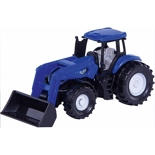 Трактор New Holland, синий (1:72), SIKUМашинки<br>Модель чудесного трактора New Holland, синий (1:72), SIKU (СИКУ) отличается теми же выгодными характеристиками, что и ее оригинал: популярный производитель, качество, надежность. Яркий синий цвет, мощные колеса и реалистично выполненная кабина делают трактор абсолютным аналогом настоящего.<br><br>Новый голландский трактор станет отличным пополнением вашей коллекции сельскохозяйственной техники. Колёса вращаются, машину можно катать. Регулируемые фронтальные погрузчики с легкостью поднимут необходимый груз. Кабина имеет съемную крышу.<br><br>Дополнительная информация:<br>-Материал: металл и пластик, резина<br>-Масштаб: 1:72<br>-Размер игрушки: 9 x 3 x 4 см<br><br>Модели SIKU (СИКУ) всегда порадуют как малышей, так и взрослых коллекционеров. <br><br>Трактор New Holland, синий (1:72), SIKU (СИКУ) можно купить в нашем магазине.<br>Ширина мм: 97; Глубина мм: 75; Высота мм: 39; Вес г: 40; Возраст от месяцев: 36; Возраст до месяцев: 96; Пол: Мужской; Возраст: Детский; SKU: 3322306;