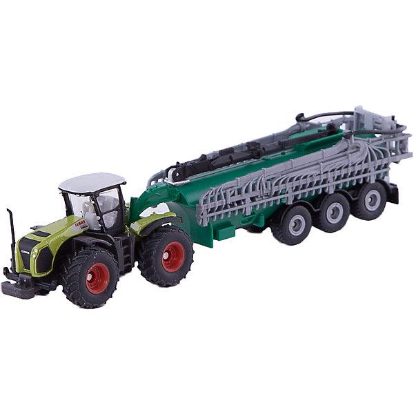 Трактор с вакуумным баком, SIKUМашинки<br>Трактор с вакуумным баком, SIKU (СИКУ) наверняка придется вам по душе.<br><br>Могучий тягач с цистерной, состоящей из мощной поливальной машины, является абсолютным аналогом сельскохозяйственной техники класса Xerion. Задняя часть поливальной машины имеет 3 оси и раскрывает оросительную систему в ширину на 26 см. кабина имеет резиновые мощные колеса и съемную крышу.<br><br>Дополнительная информация:<br>-Масштаб: 1:87<br>-Материал: металл и пластик<br>-Размер игрушки: 20 x 4 x 4,5 см<br><br>Модели SIKU (СИКУ) всегда порадуют как малышей, так и взрослых коллекционеров. <br><br>Трактор с вакуумным баком, SIKU (СИКУ) можно купить в нашем магазине.<br><br>Ширина мм: 233<br>Глубина мм: 78<br>Высота мм: 58<br>Вес г: 185<br>Возраст от месяцев: 36<br>Возраст до месяцев: 96<br>Пол: Мужской<br>Возраст: Детский<br>SKU: 3322310