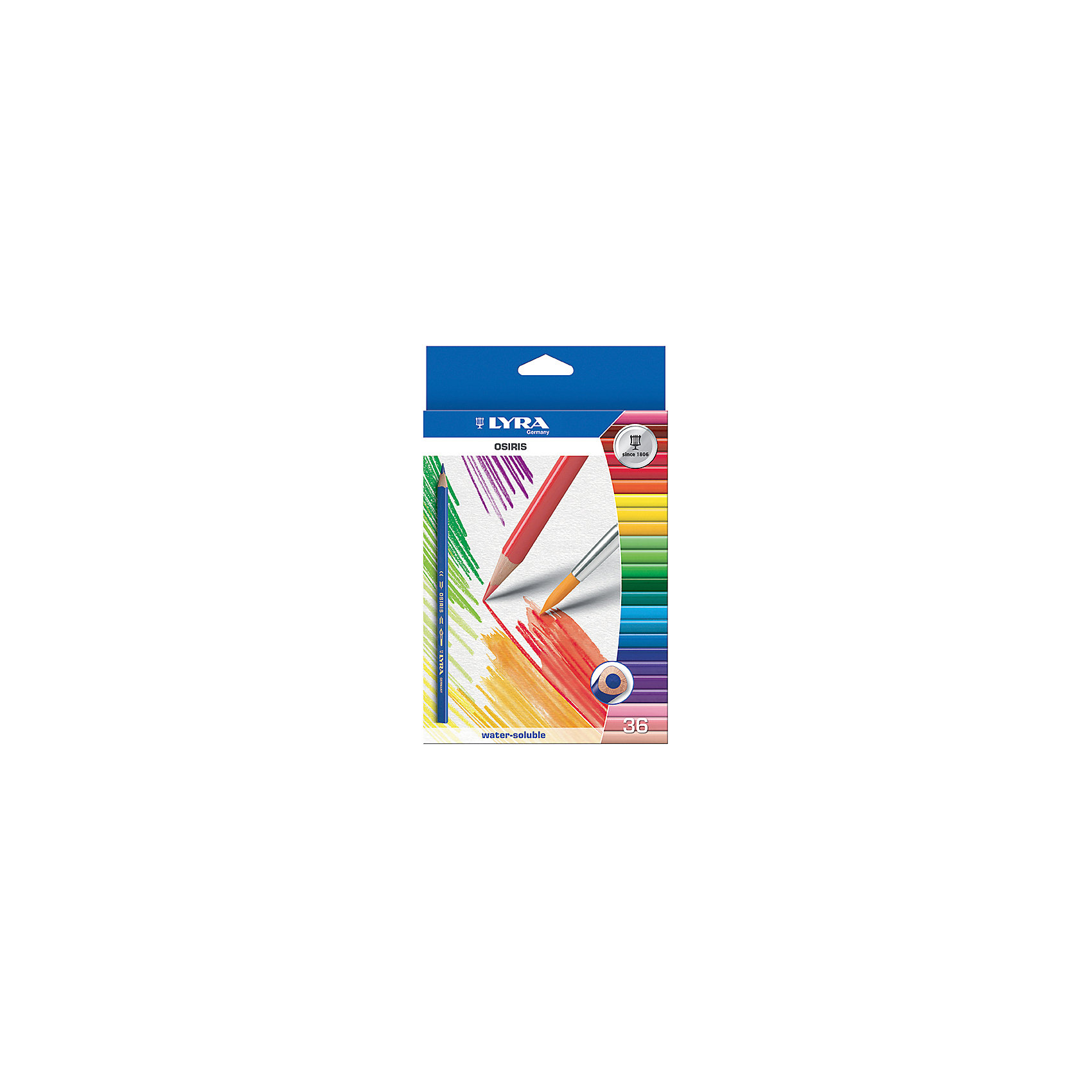 Цветные акварельные карандаши треугольной формы , 36 шт.Цветные акварельные карандаши, 36 шт.  Треугольной формы. Диаметр грифеля 3,3 мм. Экономичная линейка карандашей<br><br>Ширина мм: 219<br>Глубина мм: 144<br>Высота мм: 20<br>Вес г: 262<br>Возраст от месяцев: 72<br>Возраст до месяцев: 192<br>Пол: Унисекс<br>Возраст: Детский<br>SKU: 3322934