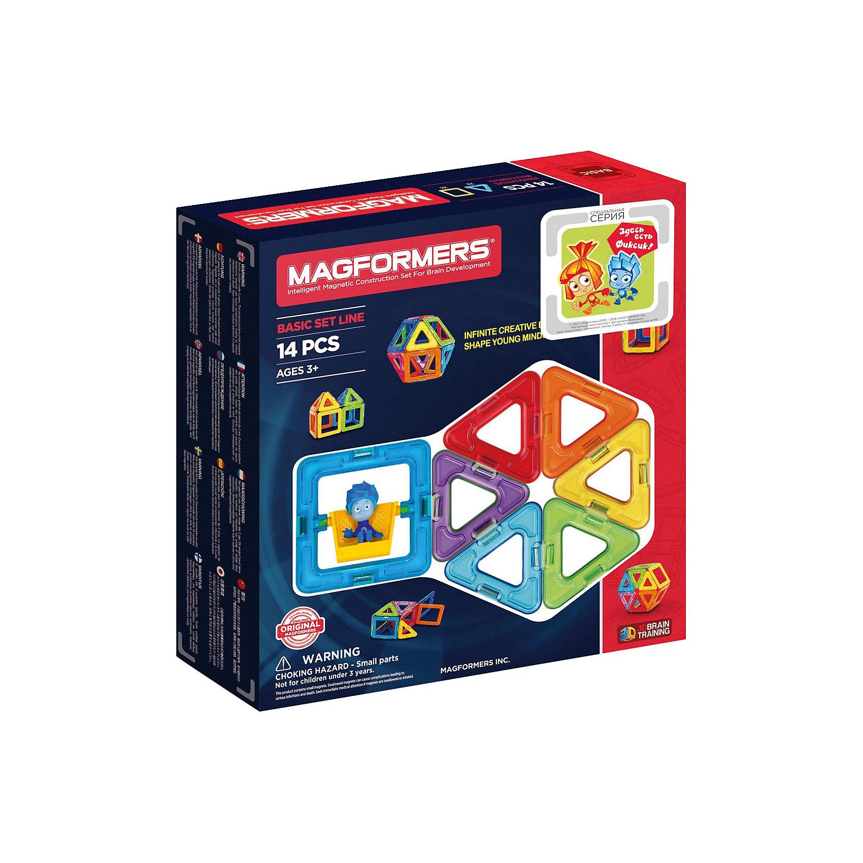 Магнитный конструктор MAGFORMERS 14Магнитные конструкторы<br>Магнитный конструктор MAGFORMERS 14- отличный набор, который можно смело рекомндовать детям от 1 года, идеально подходит для начала общения с семейством конструкторов Magformers.<br><br>В состав набора входят базовые фигуры Magformers - треугольники и квадраты, все детали разноцветные, яркие, и без сомнения понравятся ребенку.<br><br>Несмотря на то, что набор содержит небольшое количество деталей, его возможности достаточно широки. Ребенок научится различить геометрические формы, цвета, сможет освоить новый мир форм, делать несложные аппликации. Малыш сам создаст свой первый домик не только на плоскости, но и в трехмерном пространстве, таким образом сможет почувствовать разницу между двухмерными и объемными фигурами.<br><br>Набор «Magformers 14» содержит 14 элементов:<br><br>- треугольник: 8 шт.<br>- квадрат: 6 шт.<br><br>Ширина мм: 230<br>Глубина мм: 220<br>Высота мм: 50<br>Вес г: 300<br>Возраст от месяцев: 36<br>Возраст до месяцев: 192<br>Пол: Унисекс<br>Возраст: Детский<br>SKU: 3323946