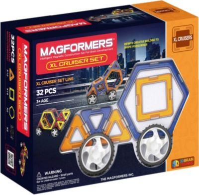 Магнитный конструктор XL Машины, 32 детали, MAGFORMERS