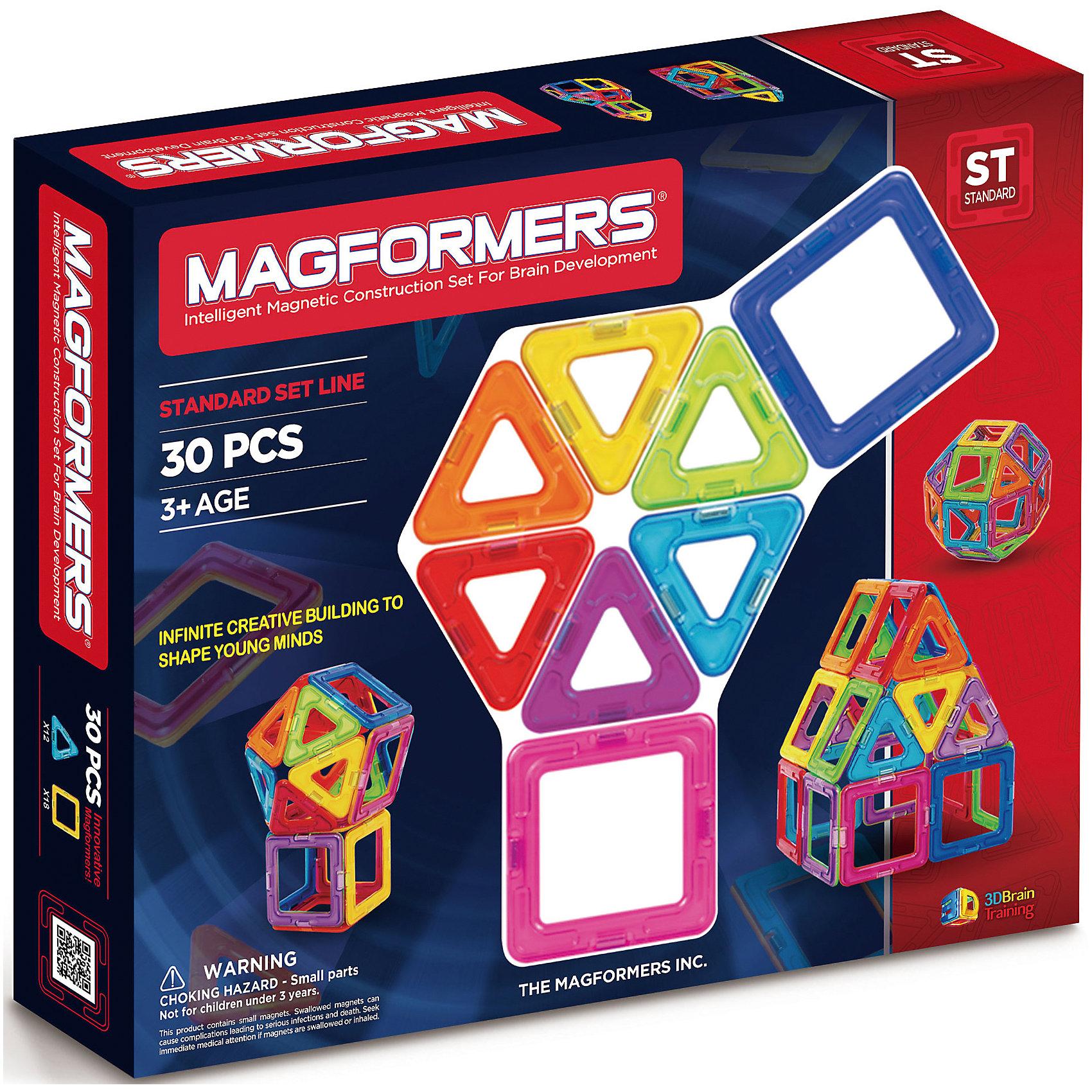 Магнитный конструктор Радуга,  MAGFORMERSМагнитные конструкторы<br>Магнитный конструктор MAGFORMERS Набор радуга состоит из квадратов и треугольников. Количество деталей позволяет собирать сложные постройки (домики, небольшие замки, волшебный шар и т.д.). В игровой форме ребенок изучает различные цвета, что очень важно для восприятия окружающего мира.<br>Мальчишки могут создать ракету или гараж, девчонкам будет интересно попробовать себя в качестве творца домика для своей любимой куклы или необычной дизайнерской сумочки. Каждый может почувствовать себя модельером и придумать необычный головной убор, будь то смешная шапка или пионерская пилотка. Конструктор MAGFORMERS Набор радуга идеально для этого подойдет - все детали разноцветные и их количества хватит для того, чтобы проявить фантазию ребенка.<br><br>Ширина мм: 250<br>Глубина мм: 240<br>Высота мм: 40<br>Вес г: 500<br>Возраст от месяцев: 36<br>Возраст до месяцев: 192<br>Пол: Унисекс<br>Возраст: Детский<br>SKU: 3323949