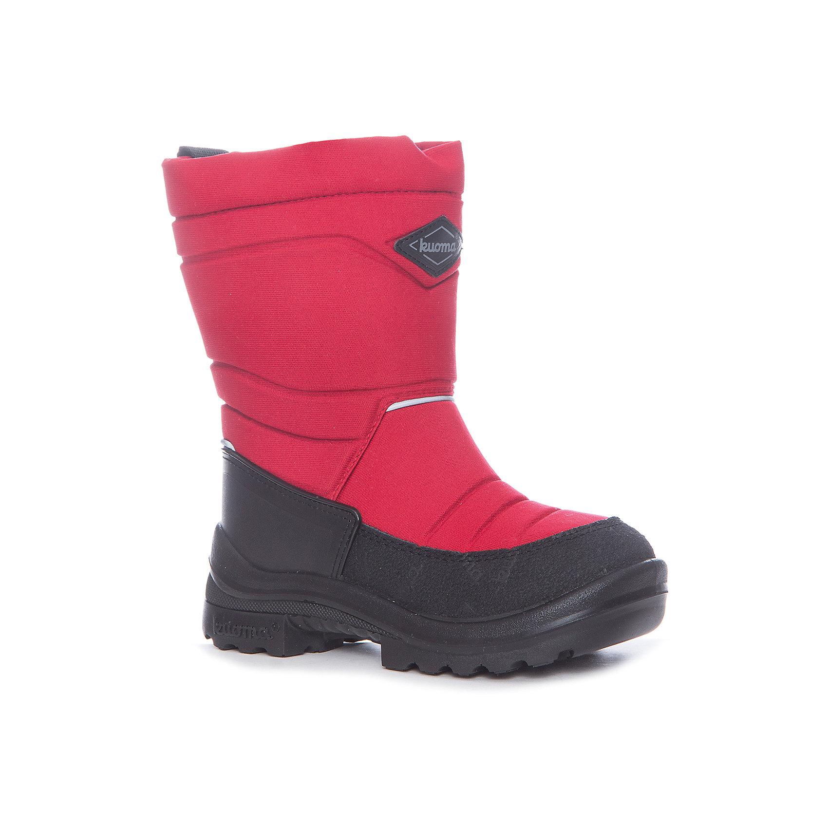 Зимние сапоги для девочки KUOMAЗимние сапожки Kuoma(Куома) изготовлены с учетом анатомического строения ноги. Обувь не промокает,  не скользит даже по льду и обладает высокой прочностью и морозостойкостью. Верх имеет пропитку Nuva, которая защитит от грязи и воды. Есть светоотражатели. В таких сапожках прогулки непременно пройдут с комфортом!<br><br>Дополнительная информация:<br>Сезон: зима<br>Материал. Верх: текстиль. Стелька: войлок Подошва: полиуретан <br><br>Сапоги Kuoma(Куома) можно приобрести в нашем интернет-магазине.<br><br>Ширина мм: 257<br>Глубина мм: 180<br>Высота мм: 130<br>Вес г: 420<br>Цвет: красный<br>Возраст от месяцев: 24<br>Возраст до месяцев: 24<br>Пол: Женский<br>Возраст: Детский<br>Размер: 25,28,27,35,34,33,32,31,30,26,29,21,25,24,23,22,20,38,37,36,26,25,24<br>SKU: 3326771