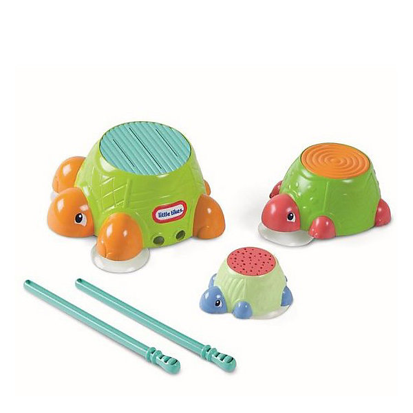 Игрушка для ванной  Черепашки-барабаны Little TikesИгрушки для ванной<br>Игрушка для ванны  Черепашки-барабаны Little Tikes (Литл Тайкс)— это черепашки, по поверхности которых можно громко барабанить! У черепашек рифленые панцири, так что палочками можно не только барабанить по черепашке, но и издавать разные забавные звуки. Черепашки плавают на поверхности воды или могут быть прикреплены к стене. Вкладываются друг в друга. Барабанные палочки можно хранить в животе черепахи.<br><br>Черепашки-барабаны Little Tikes станут прекрасным развлечением для самых маленьких детей!<br><br>Дополнительная информация:<br><br>- В комплекте: 3 черепахи, барабанные палочки 2 шт.<br>- Материал: пластик<br>- Питание: батарейки не требуются.<br>- Размеры: (Д)9 Х (Ш)20,5 Х (В)32,5 см  <br>- Вес: 393 г<br><br>Игрушку для ванны  Черепашки-барабаны Little Tikes можно купить в нашем интернет-магазине.<br><br>Ширина мм: 90<br>Глубина мм: 205<br>Высота мм: 325<br>Вес г: 393<br>Возраст от месяцев: 36<br>Возраст до месяцев: 96<br>Пол: Унисекс<br>Возраст: Детский<br>SKU: 3328148