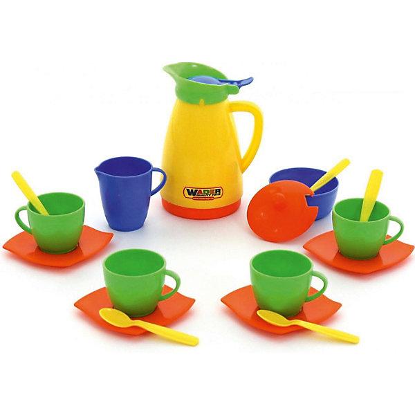 Набор игрушечной посуды Полесье Алиса на 4 персоныДетские кухни<br>Характеристики товара:<br><br>• возраст: от 3 лет;<br>• комплект: вилки, ложки, ножи, чашки, стаканы, тарелки, чайник, масленка;<br>• материал: пластик;<br>• размер упаковки: 28х 28х 10 см;<br>• вес набора: 300 гр;<br>• страна бренда: Беларусь.<br><br>Яркий набор детской посуды Алиса рассчитан на 4 персоны. Девочка с радостью будет играть с ним, приглашая к себе в гости на чаепитие любимых кукол. <br><br>В наборе есть все необходимое для того, чтобы устроить званый ужин на 4 персоны - вилки, ложки, ножи, чашки, стаканы, тарелки, чайник и масленка.<br><br>Набор детской посуды на 4 персоны Алиса можно купить в нашем интернет-магазине.<br>Ширина мм: 150; Глубина мм: 159; Высота мм: 168; Вес г: 282; Возраст от месяцев: 12; Возраст до месяцев: 60; Пол: Женский; Возраст: Детский; SKU: 3328391;