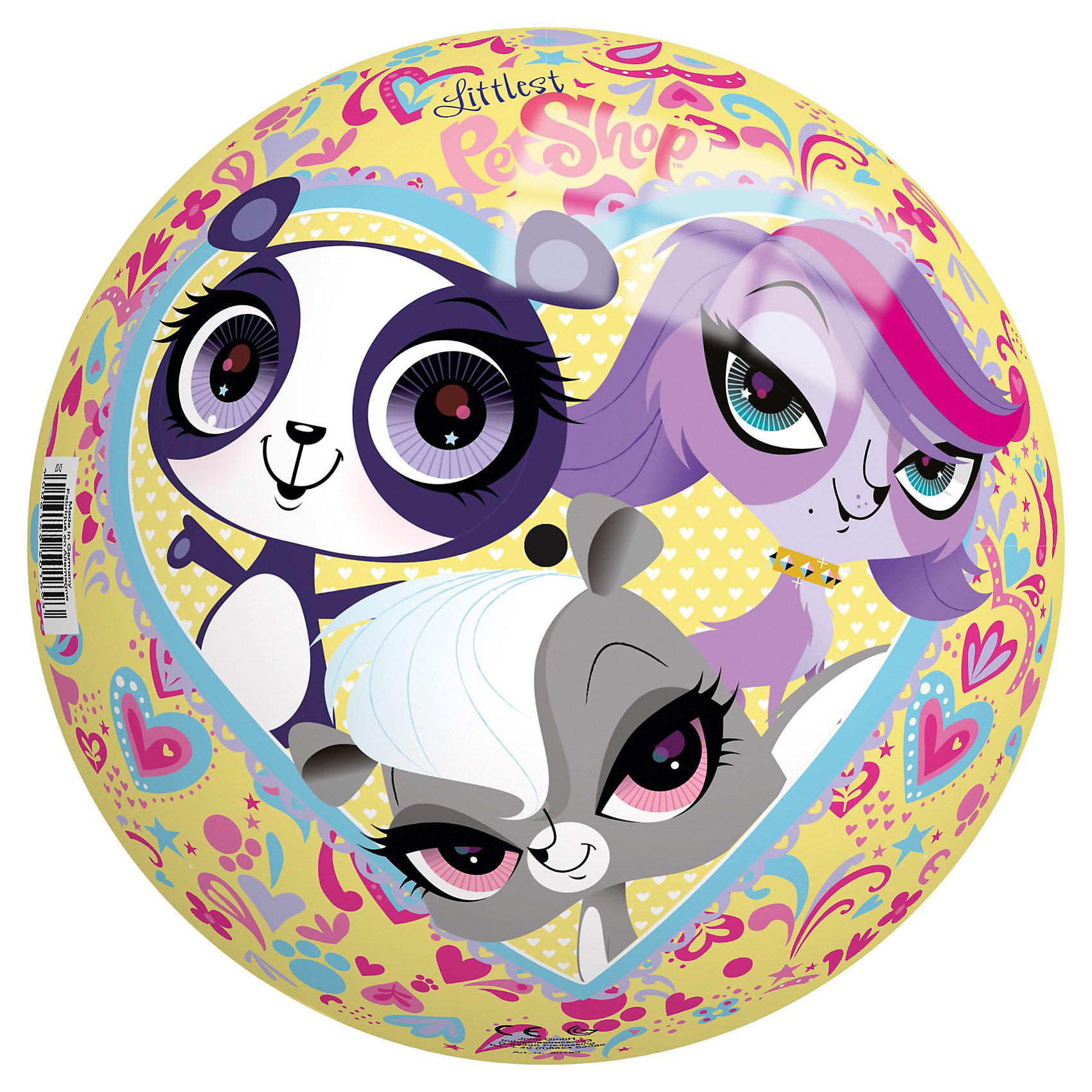 Мяч Маленький зоомагазин, 230 мм, JohnМячи детские<br>Мяч Маленький зоомагазин, John - яркий красочный мячик, который замечательно подойдет для веселых подвижных игр как в помещении, так и на улице. Особенность этого мячика - красочные изображения симпатичных зверюшек из популярного мультсериала Маленький зоомагазин (My Littles Pet Shops). Игры с мячом развивают ловкость и координацию движений, способствуют физическому развитию ребенка. <br><br>Дополнительная информация:<br><br>- Материал: ПВХ.<br>- Диаметр: 230 мм.<br>- Размер: 23 х 23 х 23 см.<br>- Вес: 0,2 кг.<br><br>Мяч Маленький зоомагазин, 230 мм., John, можно купить в нашем интернет-магазине.<br><br>Ширина мм: 209<br>Глубина мм: 210<br>Высота мм: 210<br>Вес г: 109<br>Возраст от месяцев: 36<br>Возраст до месяцев: 96<br>Пол: Женский<br>Возраст: Детский<br>SKU: 3334160