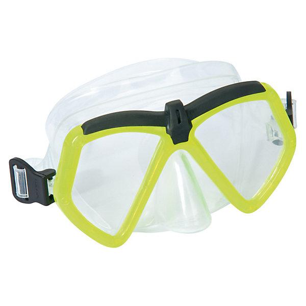 Детская маска для подводного плавания Море, BestwayОчки, маски, ласты, шапочки<br>Детская маска для подводного плавания Море, Bestway (Бествей) с  поликарбонатными линзами угловатой формы. Маска имеет отдельно выполненный выступ для носа, что полностью исключает протекание. Силикон прозрачный, поэтому обзор у этой модели широкий. <br><br>Дополнительная информация:<br><br>- В комплекте: маска для плавания Бествей<br>- Материал: ударопрочный поликарбонат<br>- Уплотнитель: силикон<br>- Регулируемый ремешок для обхвата головы.<br><br>Детскую маску для подводного плавания Море, Bestway (Бествей) можно купить в нашем интернет-магазине.<br>Ширина мм: 216; Глубина мм: 175; Высота мм: 55; Вес г: 164; Возраст от месяцев: 72; Возраст до месяцев: 144; Пол: Унисекс; Возраст: Детский; SKU: 3340136;